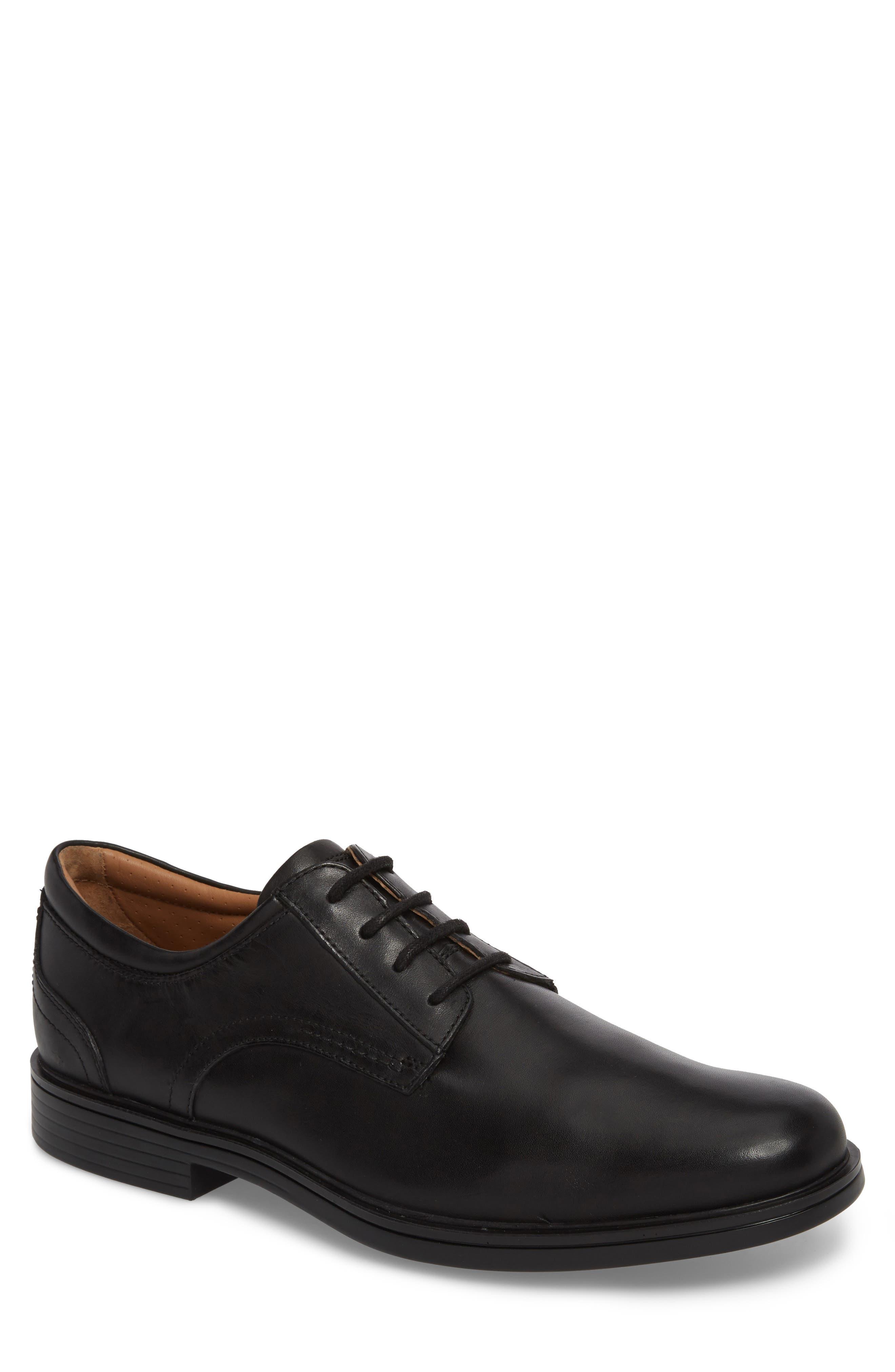 Unaldric Plain Toe Derby,                         Main,                         color, BLACK LEATHER