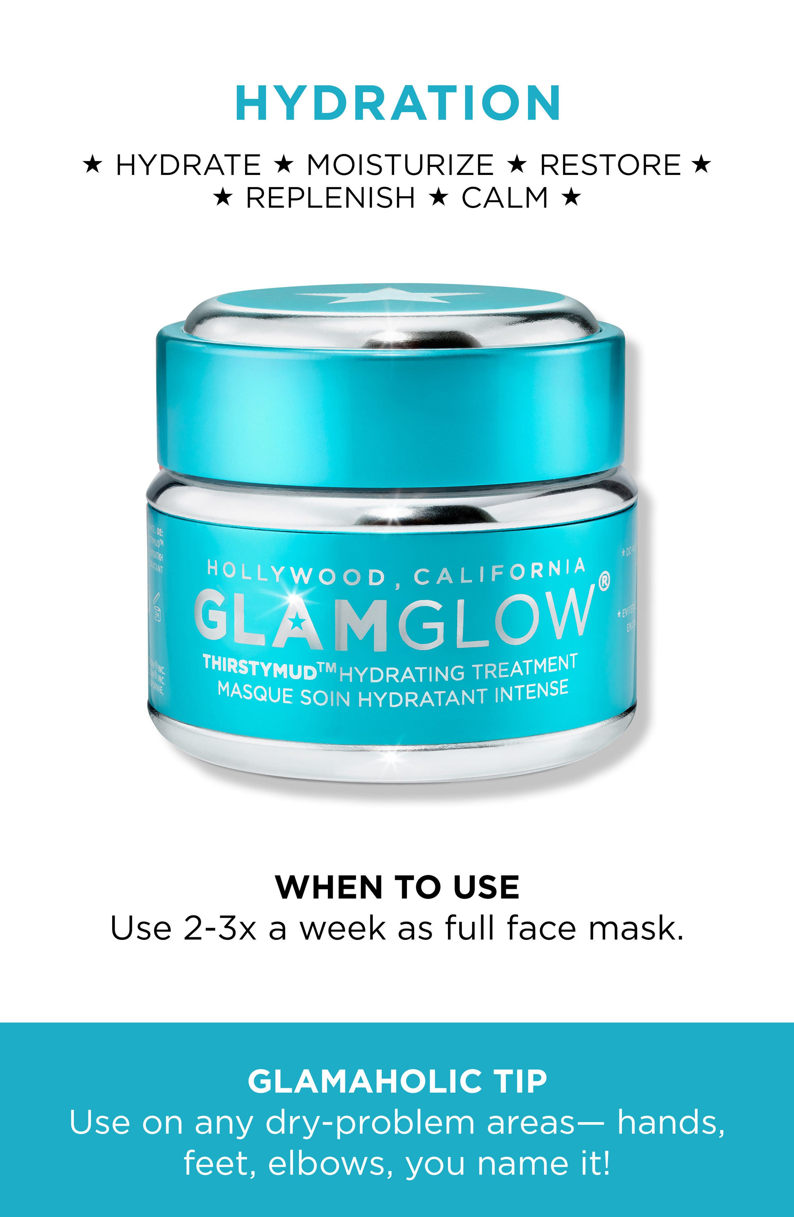 GLAMGLOW<SUP>®</SUP>,                             THIRSTYMUD<sup>™</sup> Hydrating Treatment Mask,                             Alternate thumbnail 6, color,                             NO COLOR