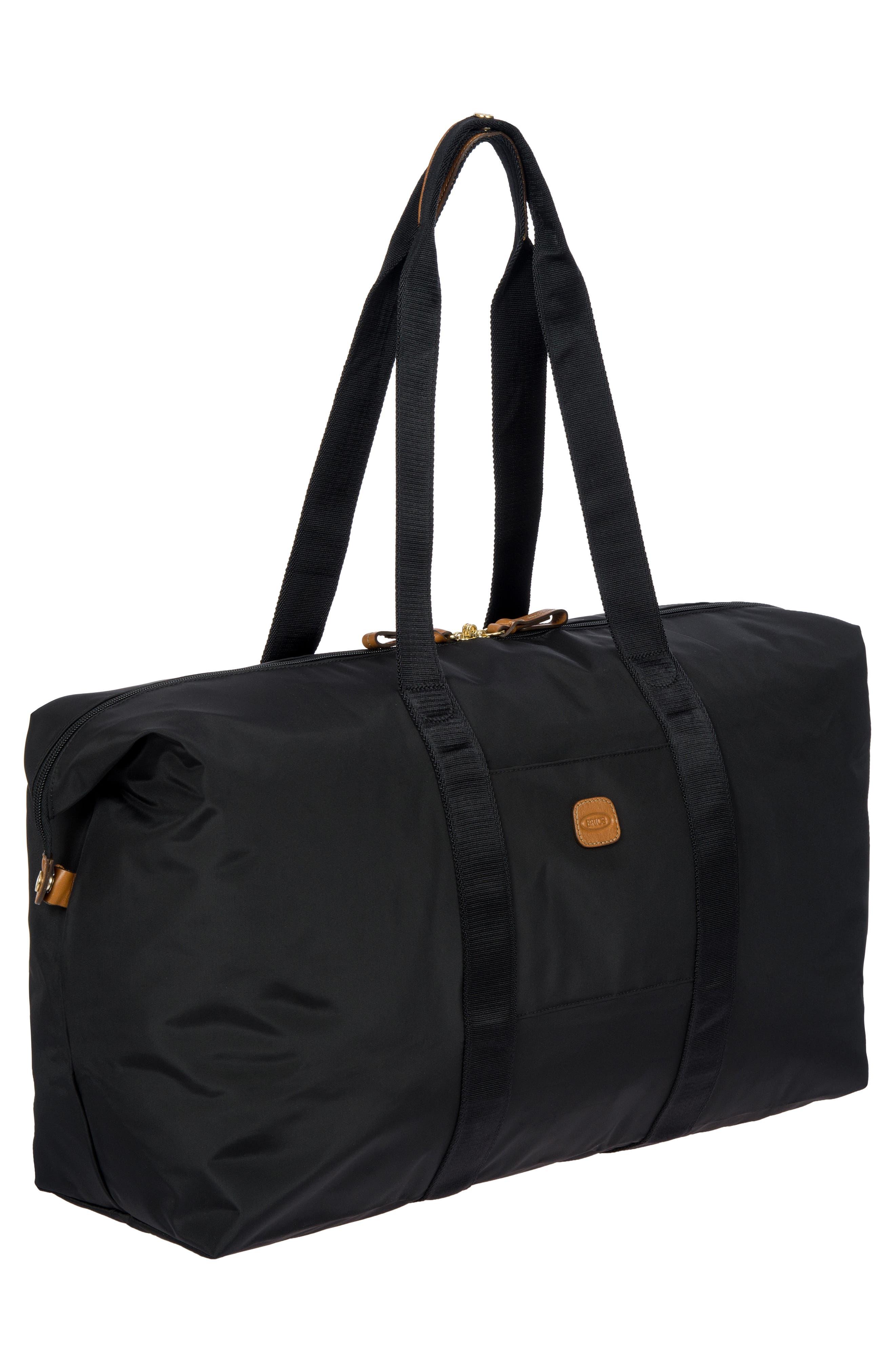 X-Bag 22-Inch Folding Duffel Bag,                             Alternate thumbnail 4, color,                             BLACK