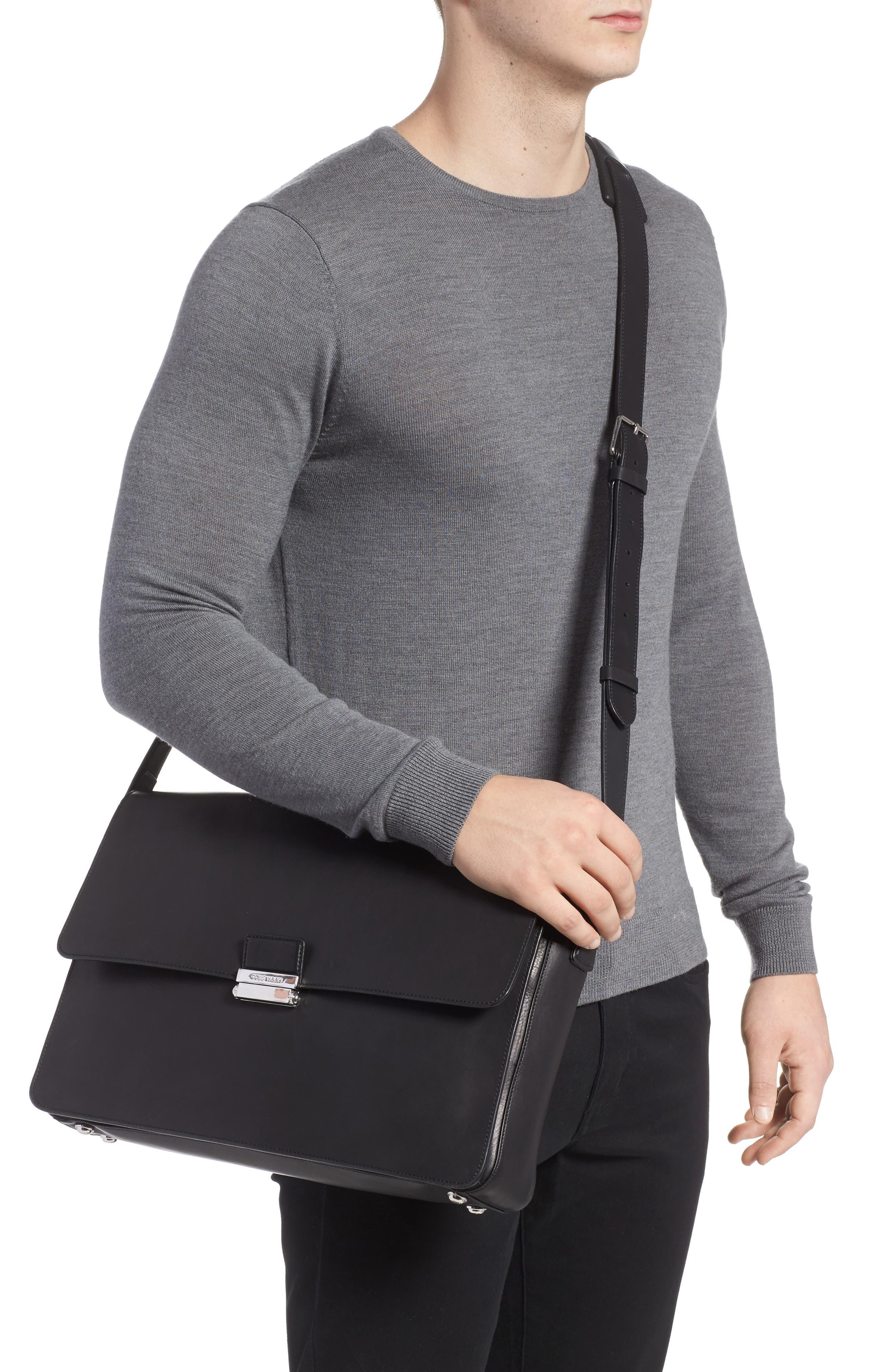 Brayton Leather Messenger Bag,                             Alternate thumbnail 2, color,