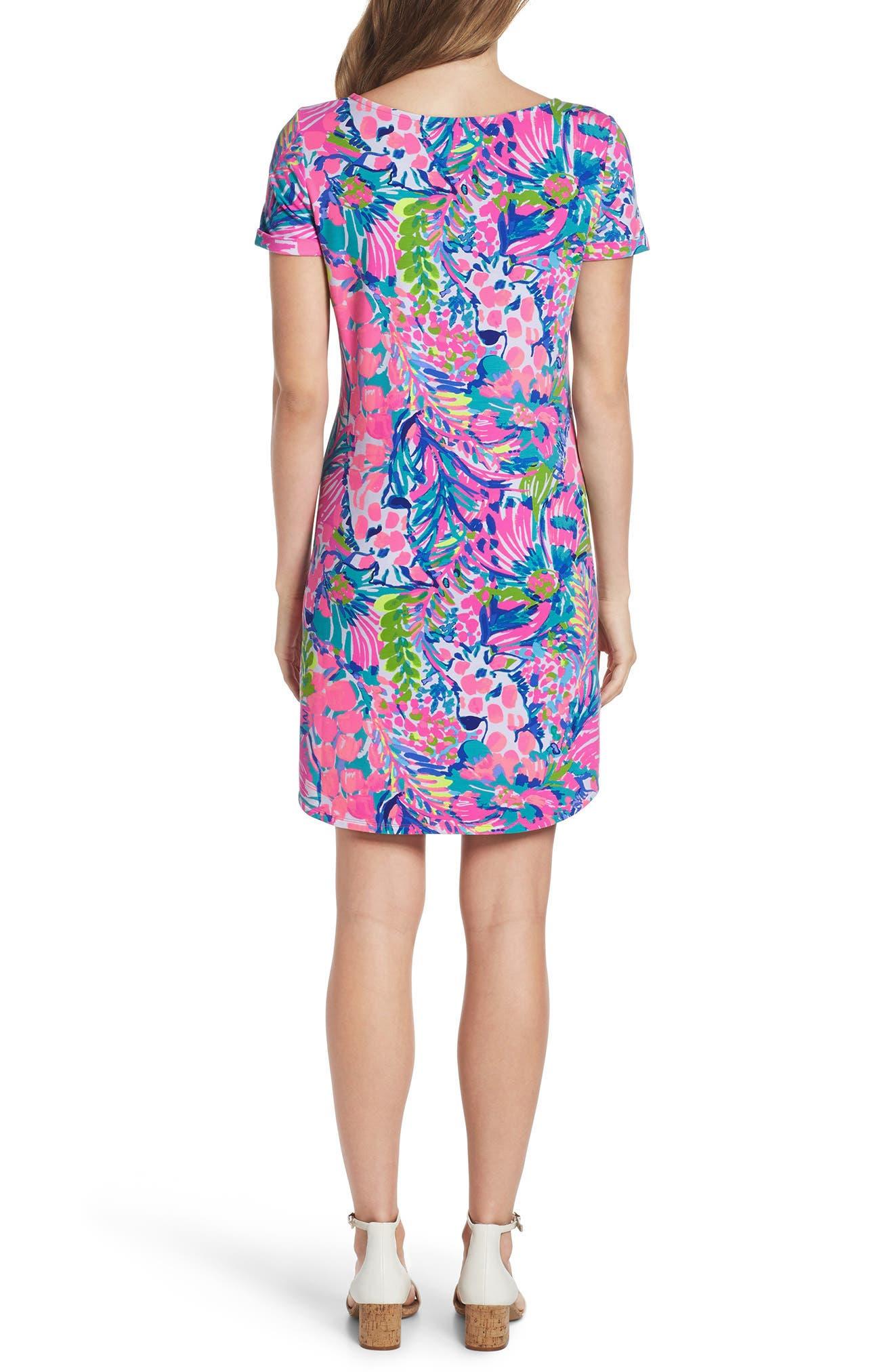 Tammy UPF 50+ Shift Dress,                             Alternate thumbnail 2, color,                             MULTI GUMBO LIMBO
