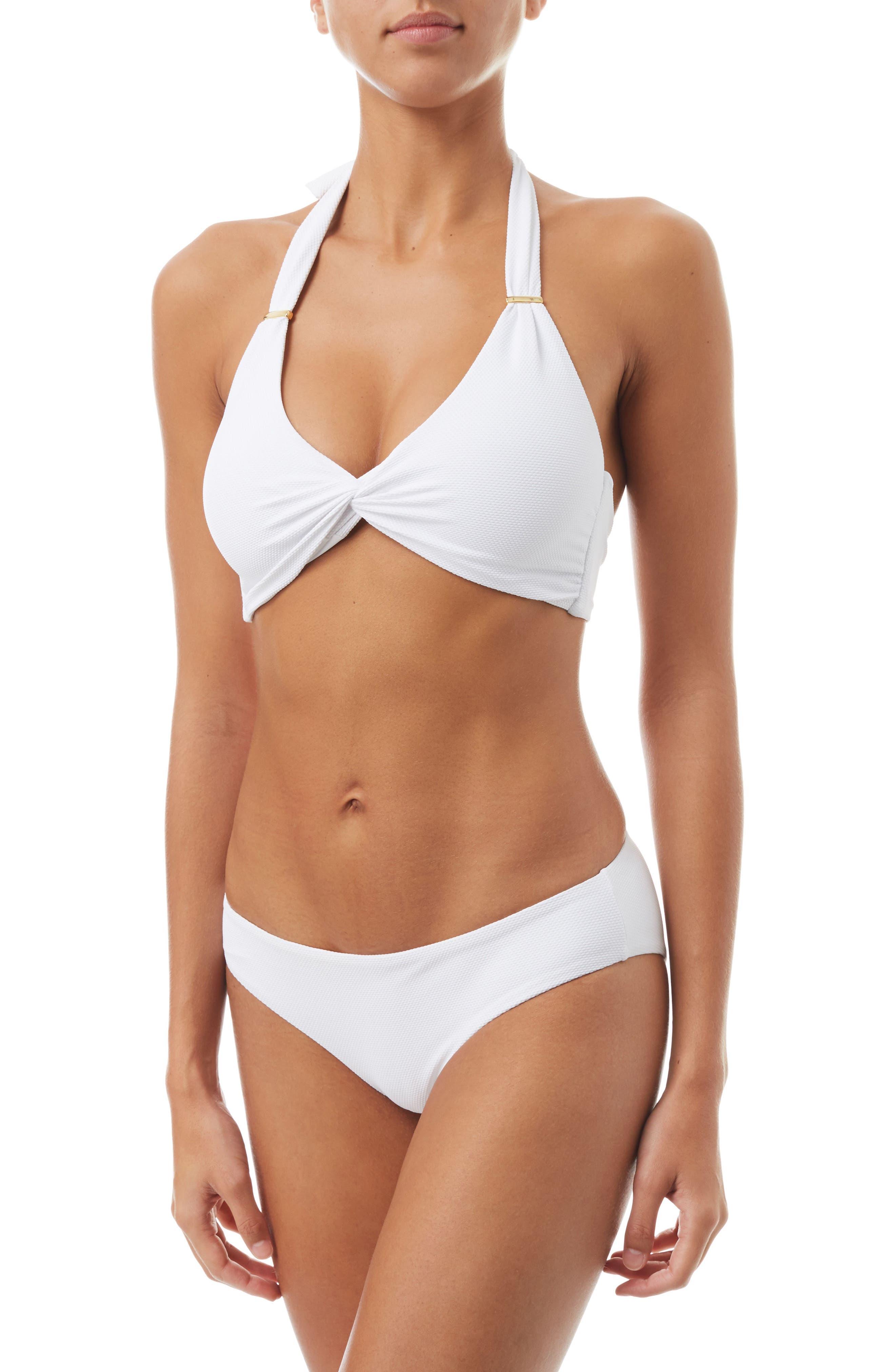Africa Halter Bikini Top,                             Alternate thumbnail 3, color,                             PIQUE WHITE