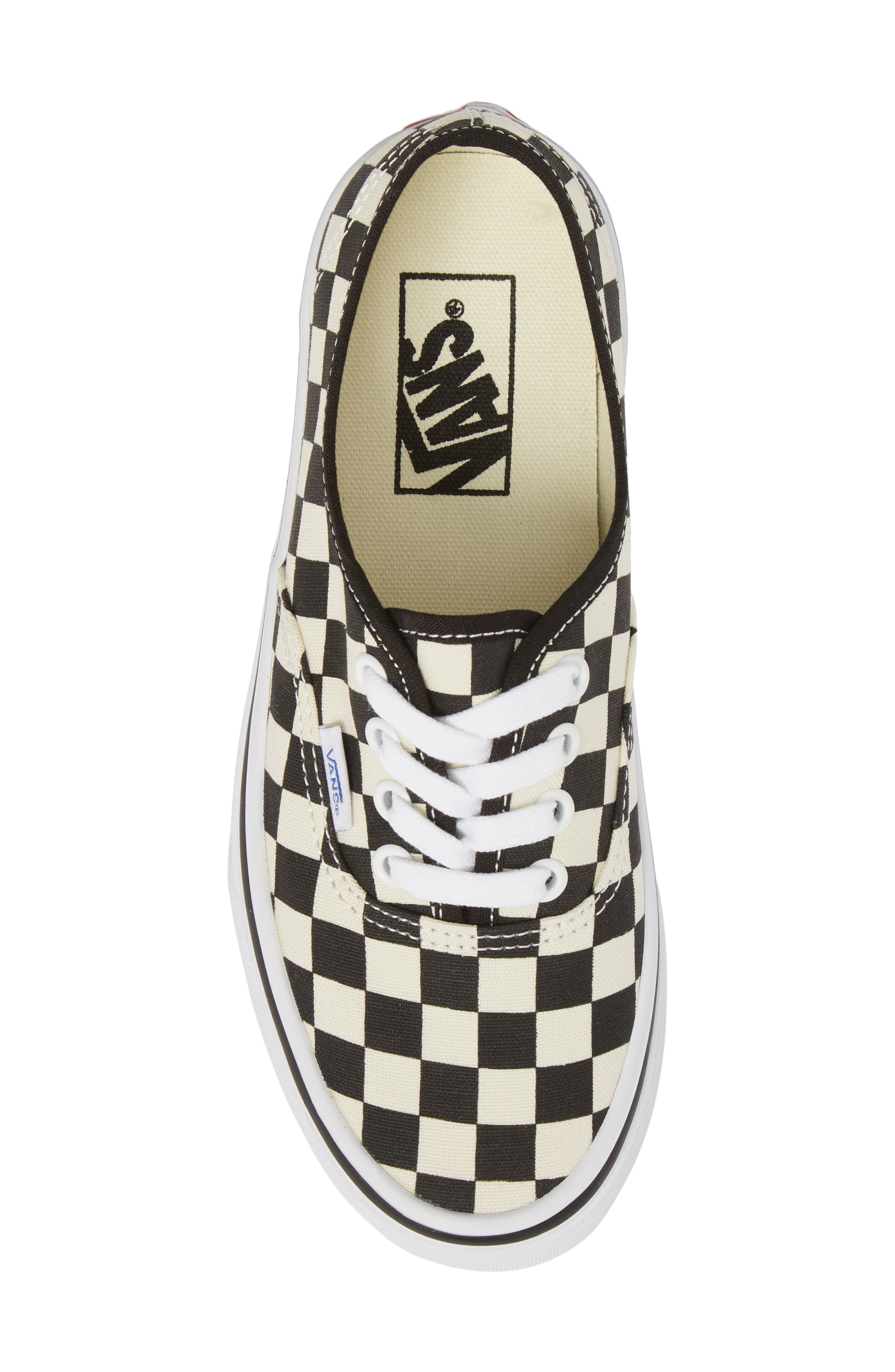 'Authentic' Sneaker,                             Alternate thumbnail 5, color,                             BLACK/ WHITE CHECKER