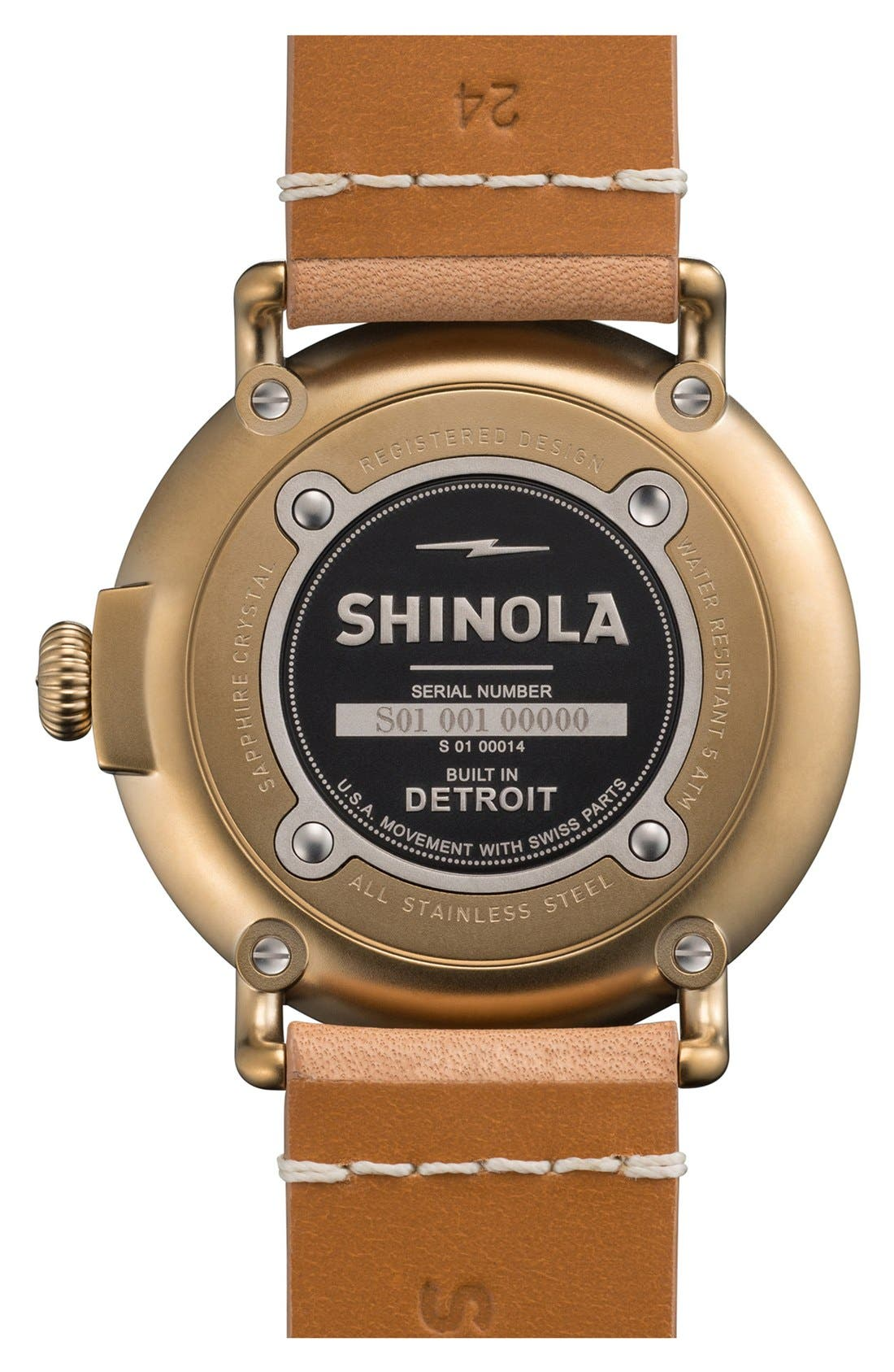 'The Runwell' Leather Strap Watch, 47mm,                             Alternate thumbnail 45, color,