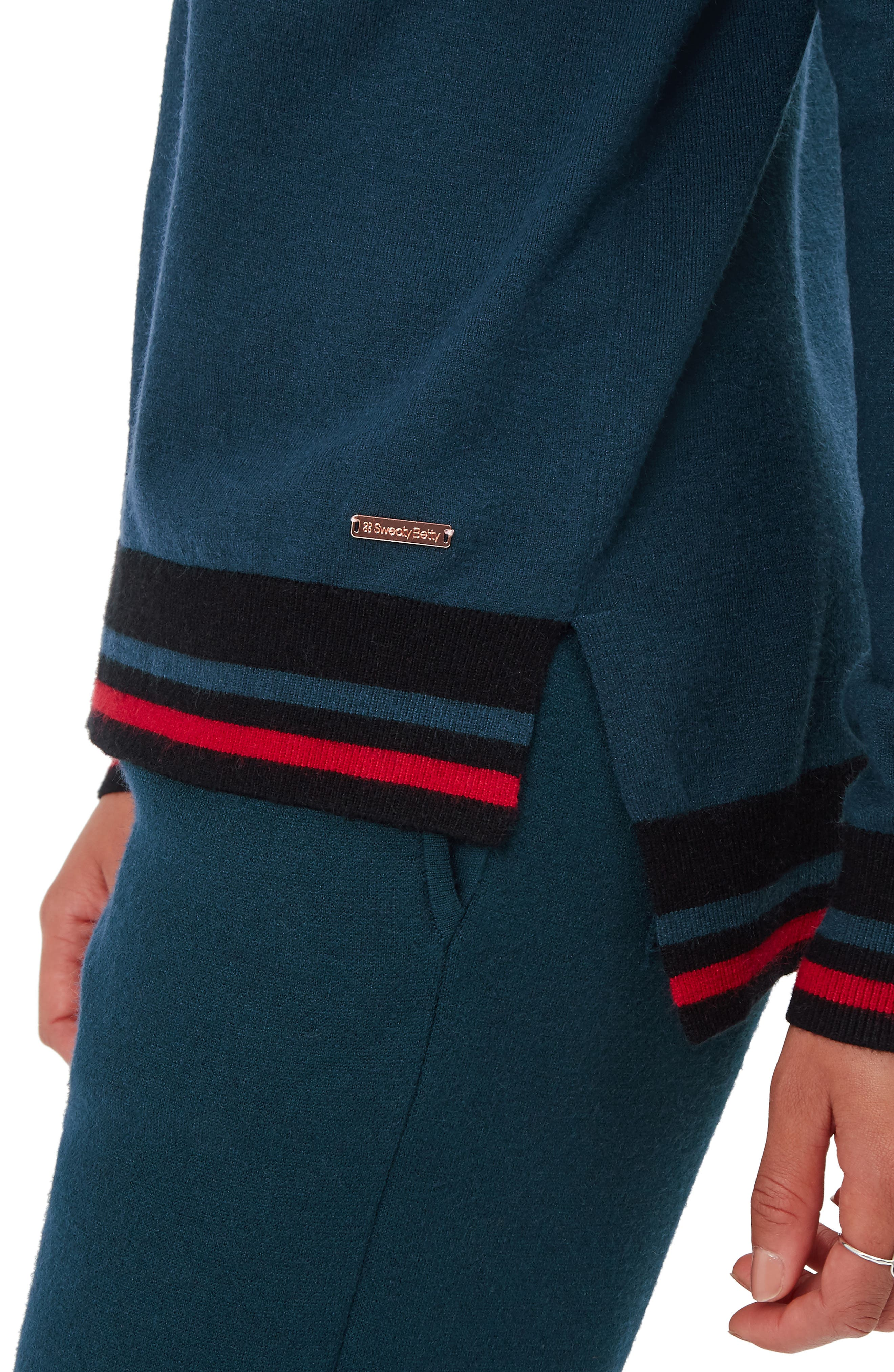 Ski Jumper Sweater,                             Alternate thumbnail 3, color,                             BEETLE BLUE