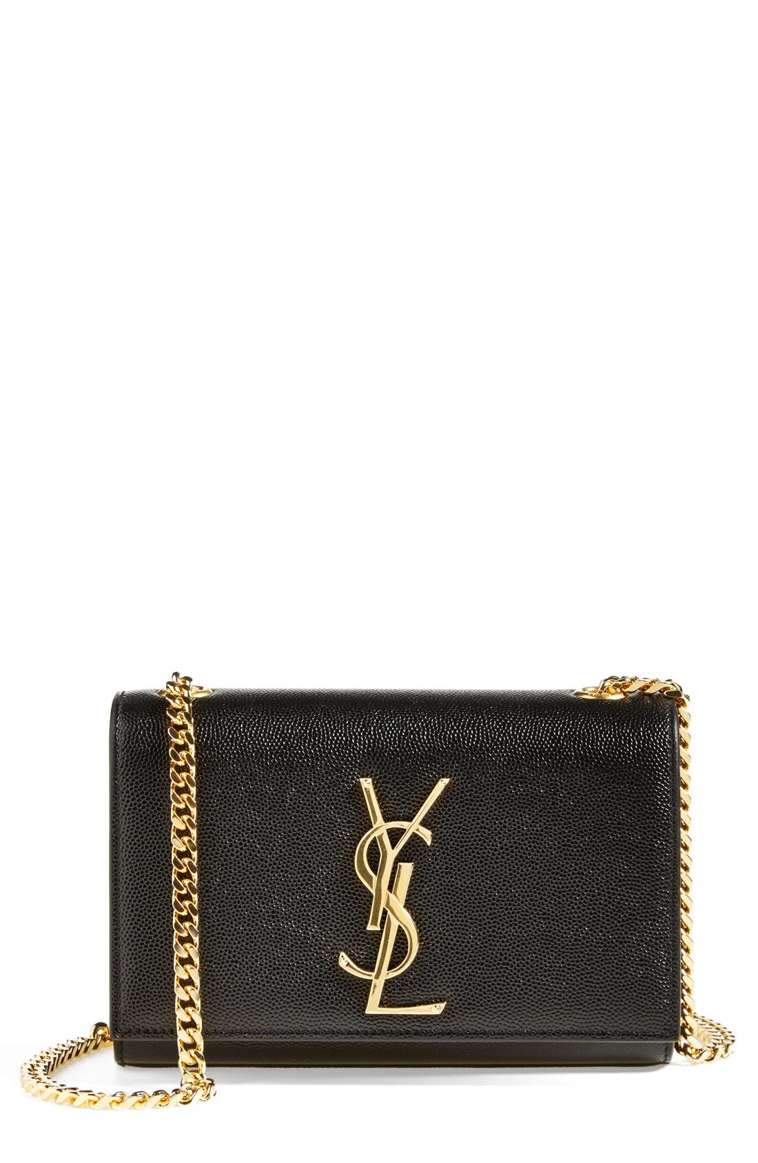 Small Kate Chain Crossbody Bag,                        Main,                         color, NOIR/ GOLD HDWR