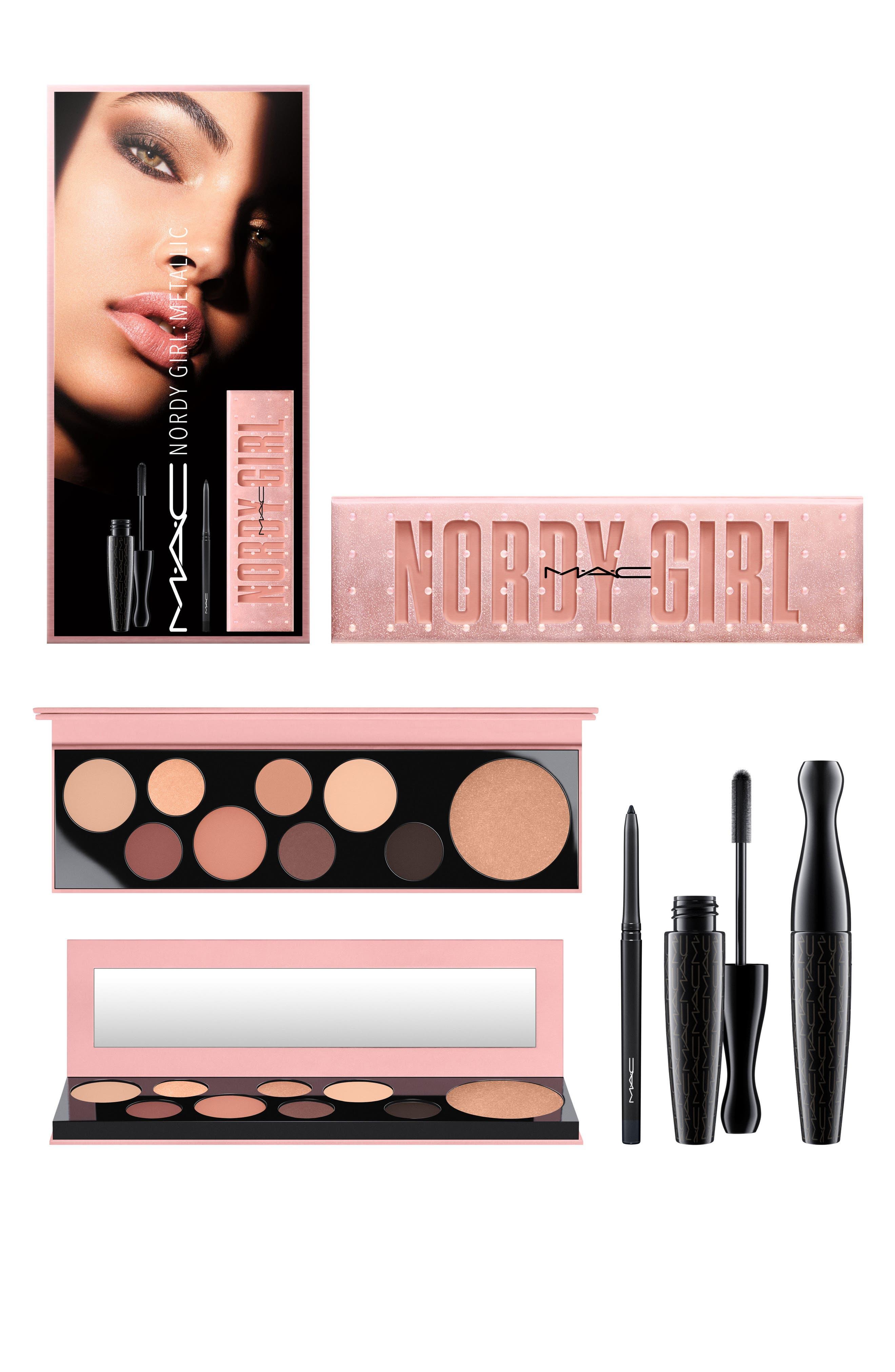 MAC Nordy Girl Matte Face & Eye Set,                             Alternate thumbnail 12, color,                             000