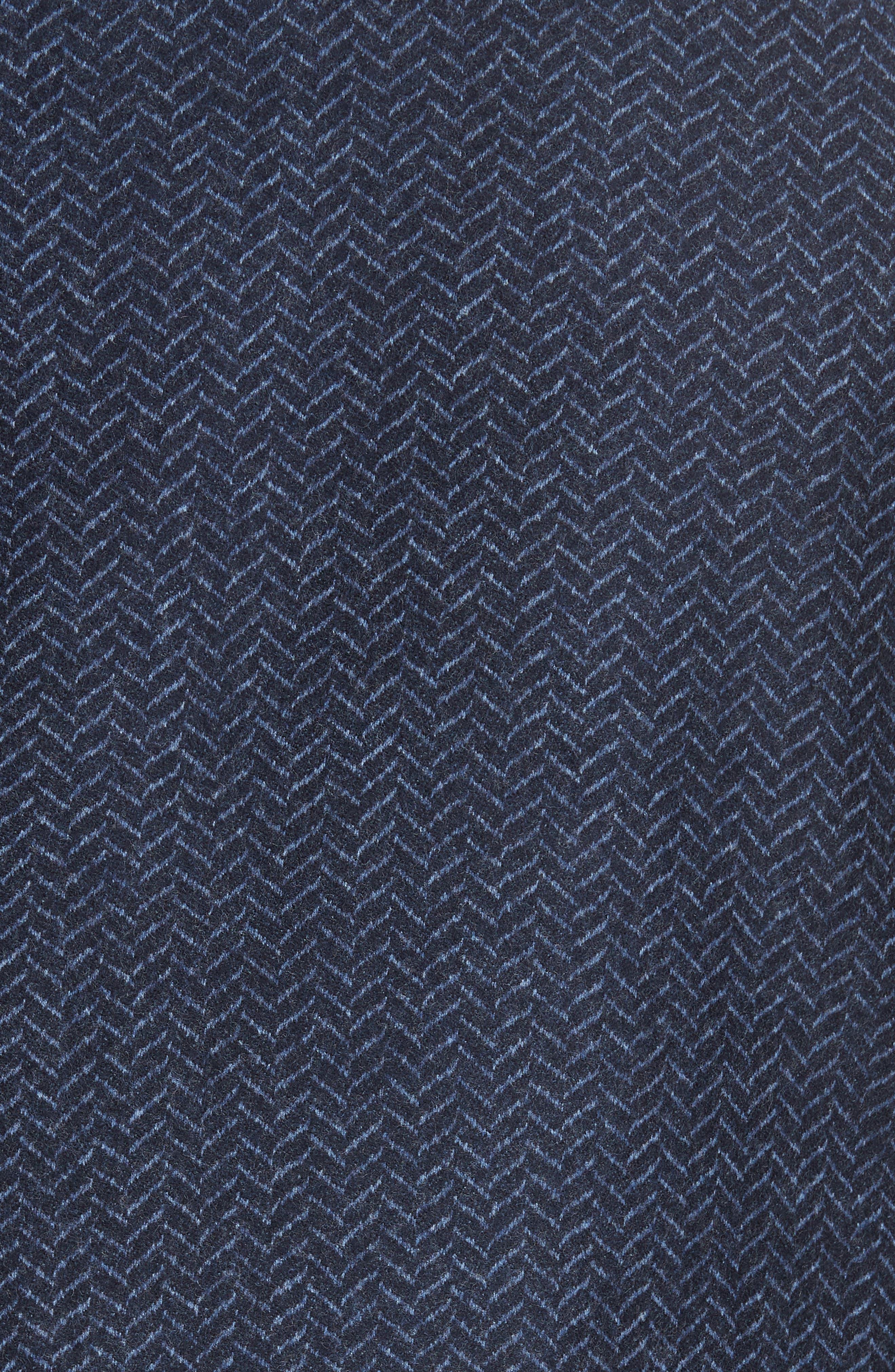 Classic Fit Herringbone Wool Sport Coat,                             Alternate thumbnail 6, color,                             DARK BLUE