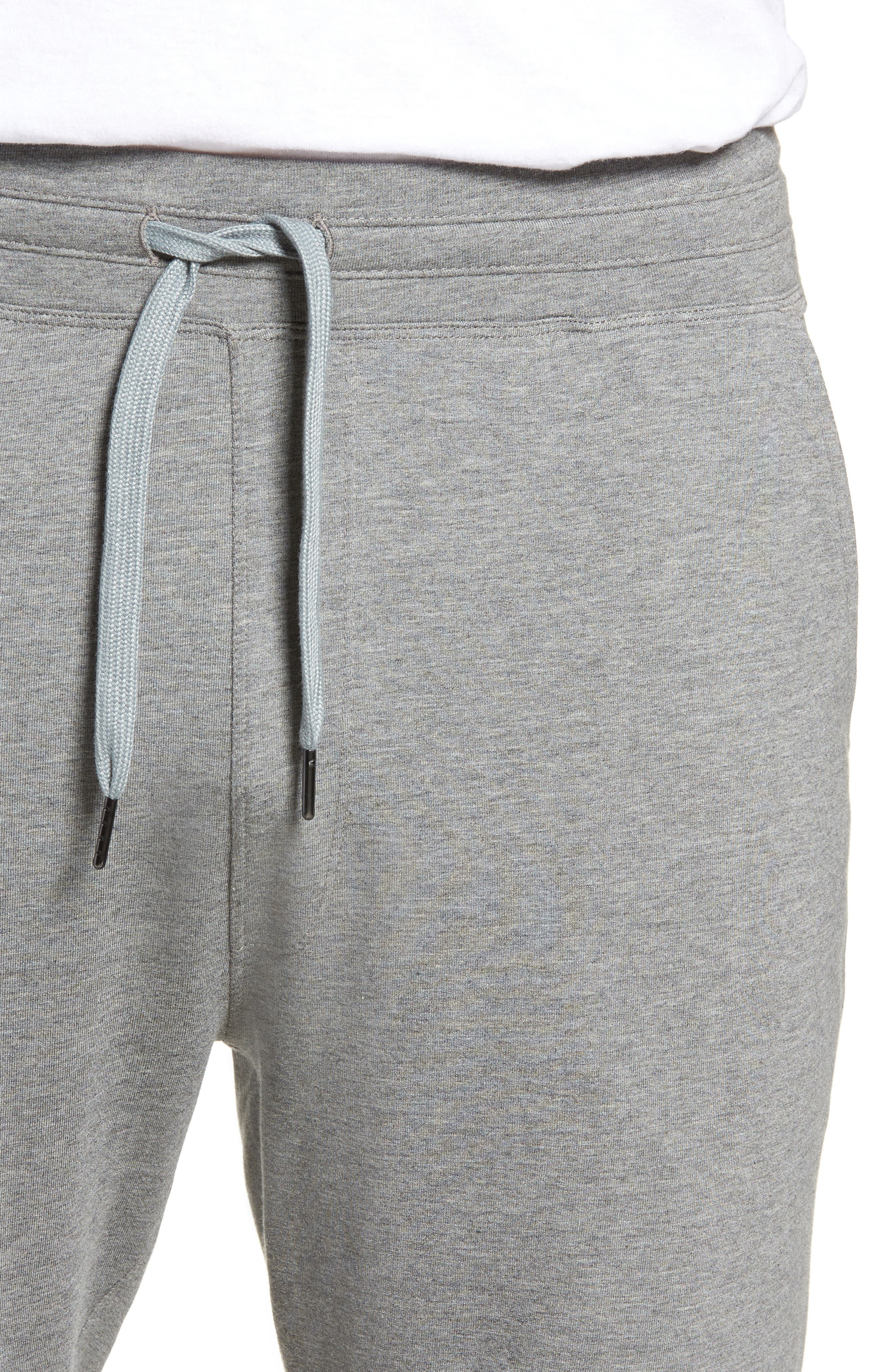 Legacy II Semi-Fitted Knit Athletic Shorts,                             Alternate thumbnail 4, color,                             HEATHER GRAY