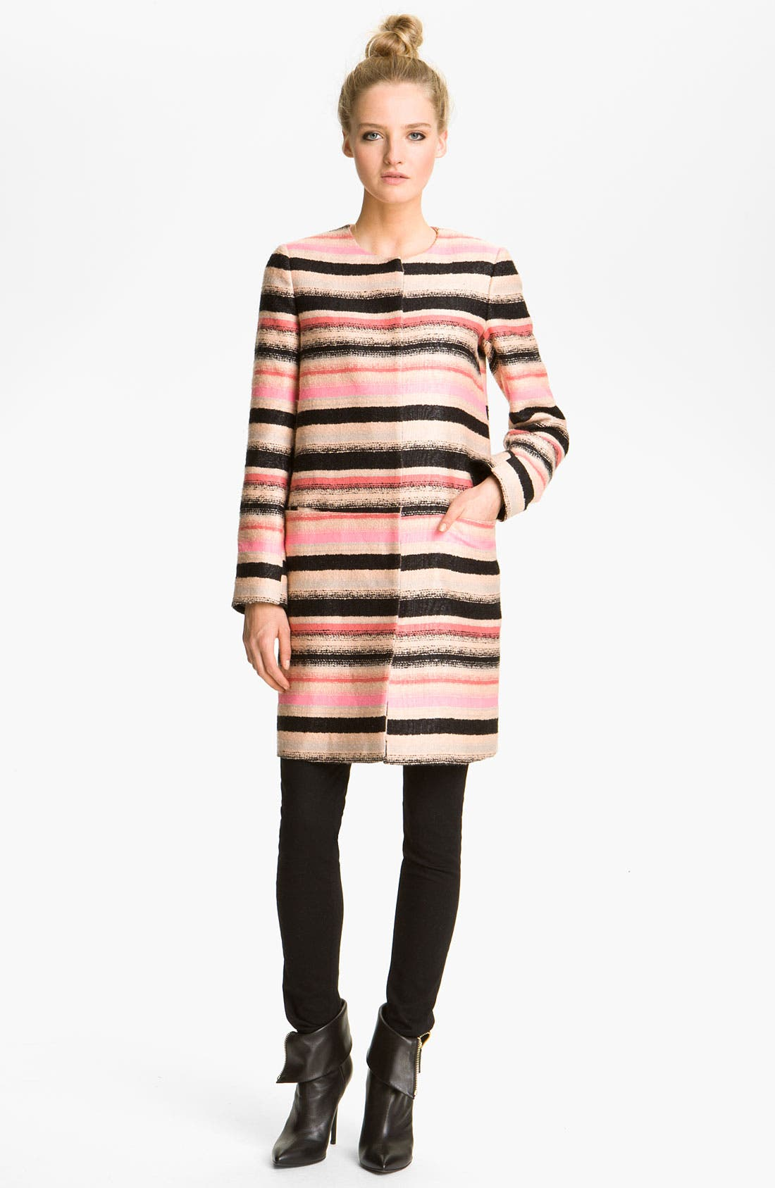 MSGM,                             Stripe Tweed Jacket,                             Main thumbnail 1, color,                             680