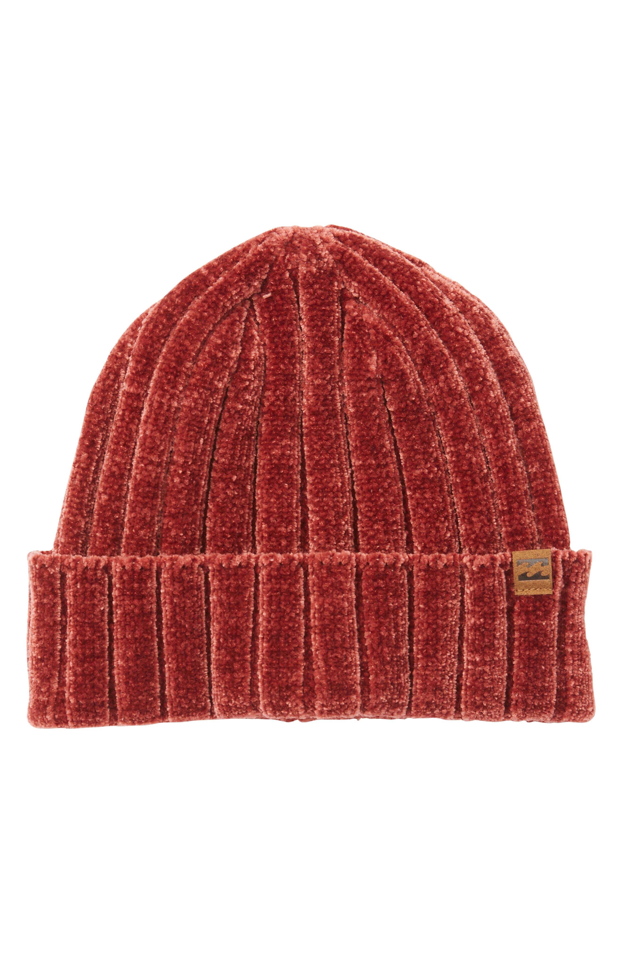 Billabong Warm Up Chenille Beanie - Red