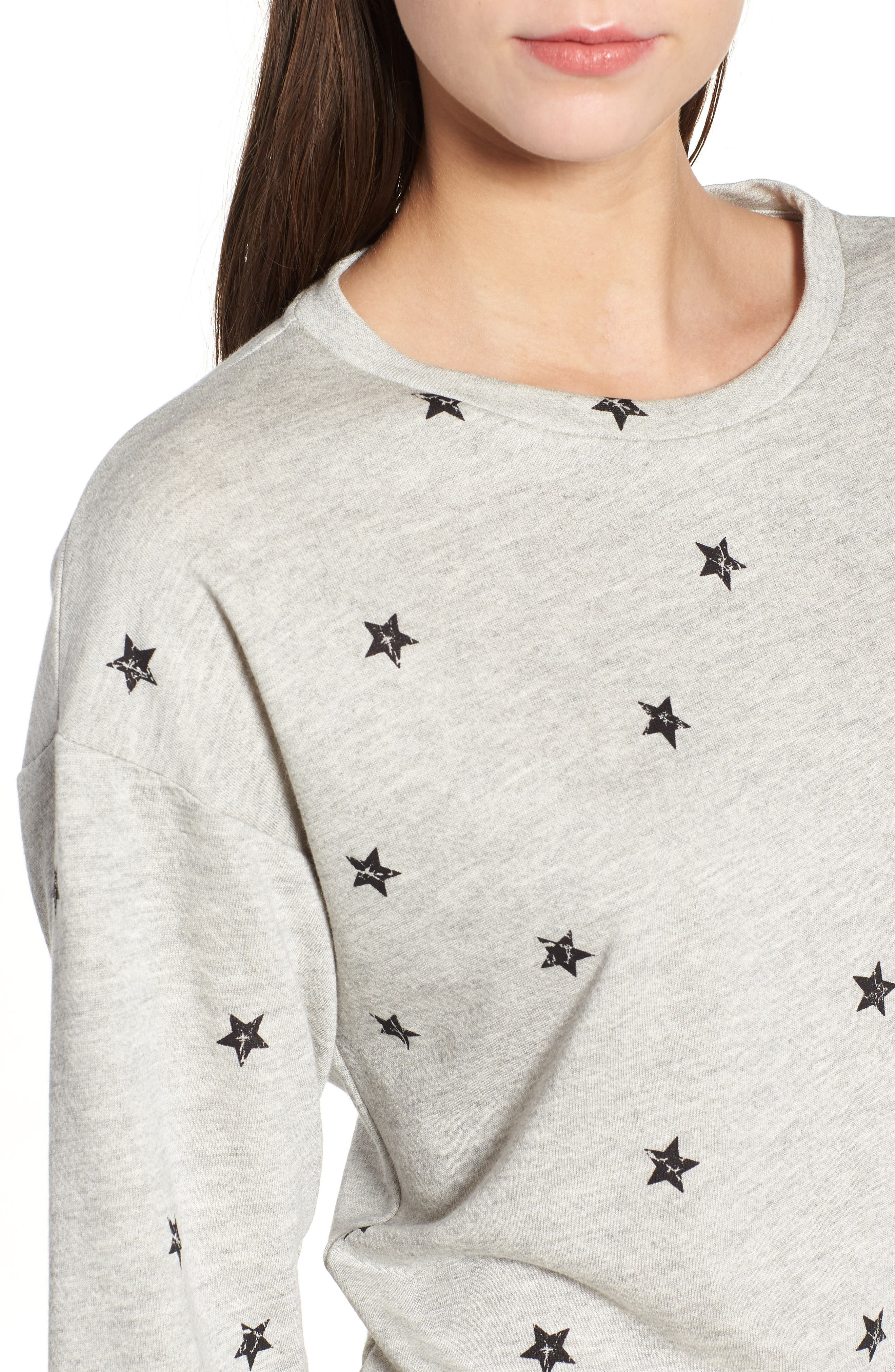 Star Print Sweatshirt,                             Alternate thumbnail 4, color,                             035