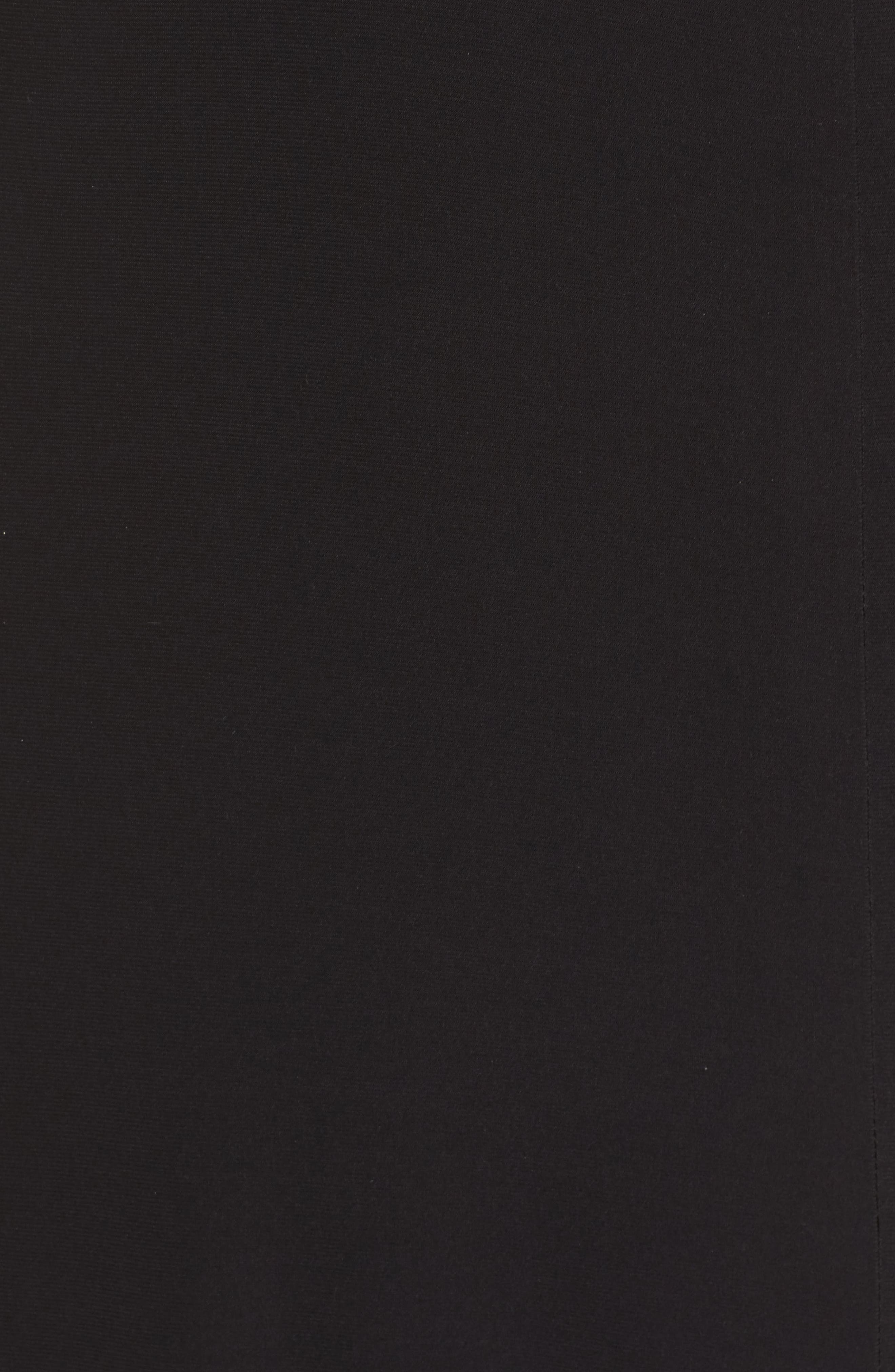MORGAN & CO.,                             Sequin Mesh Panel Gown,                             Alternate thumbnail 5, color,                             BLACK / ROSE GOLD