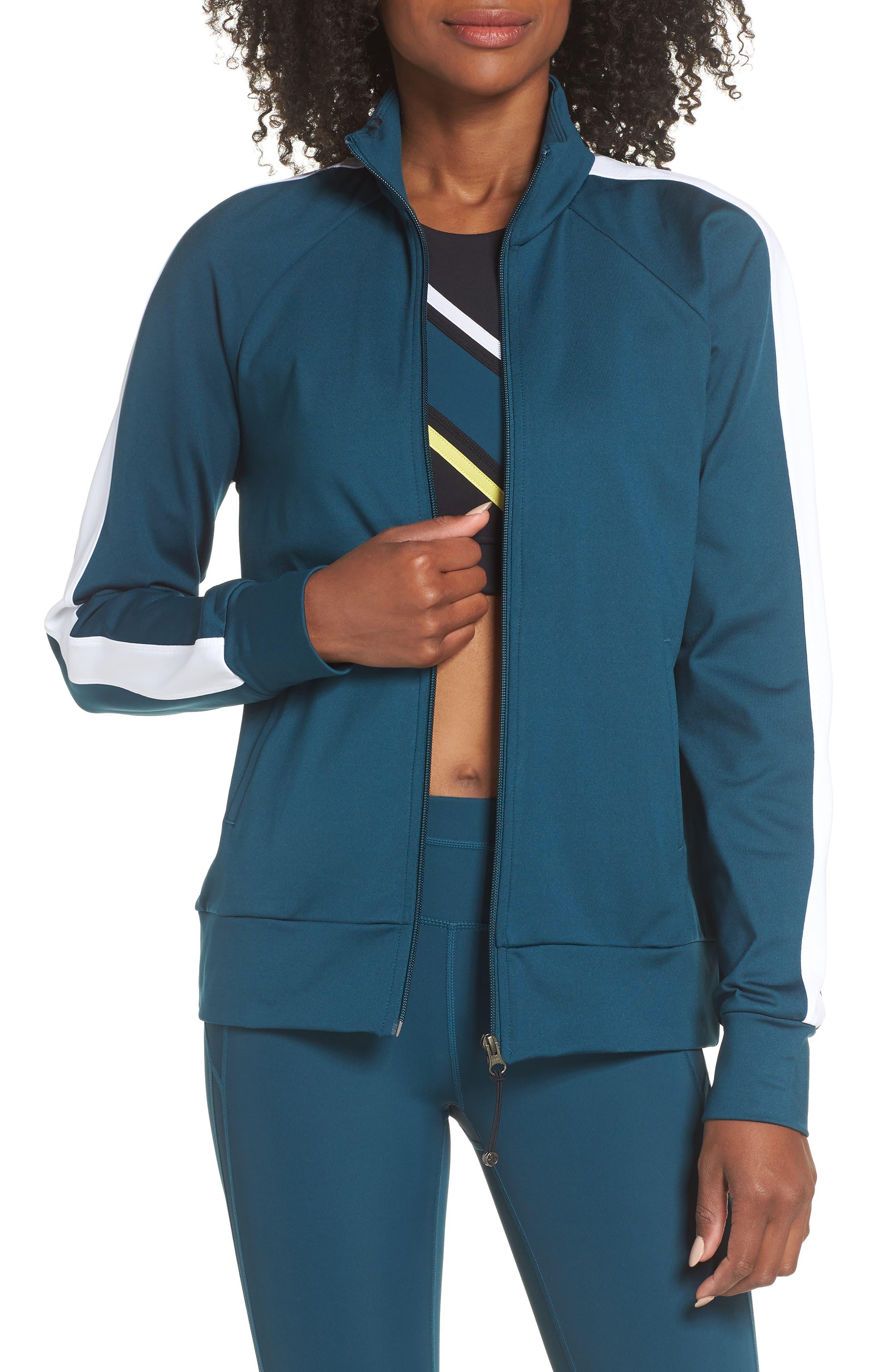 Taylor Track Jacket,                             Main thumbnail 1, color,                             TEAL ABYSS