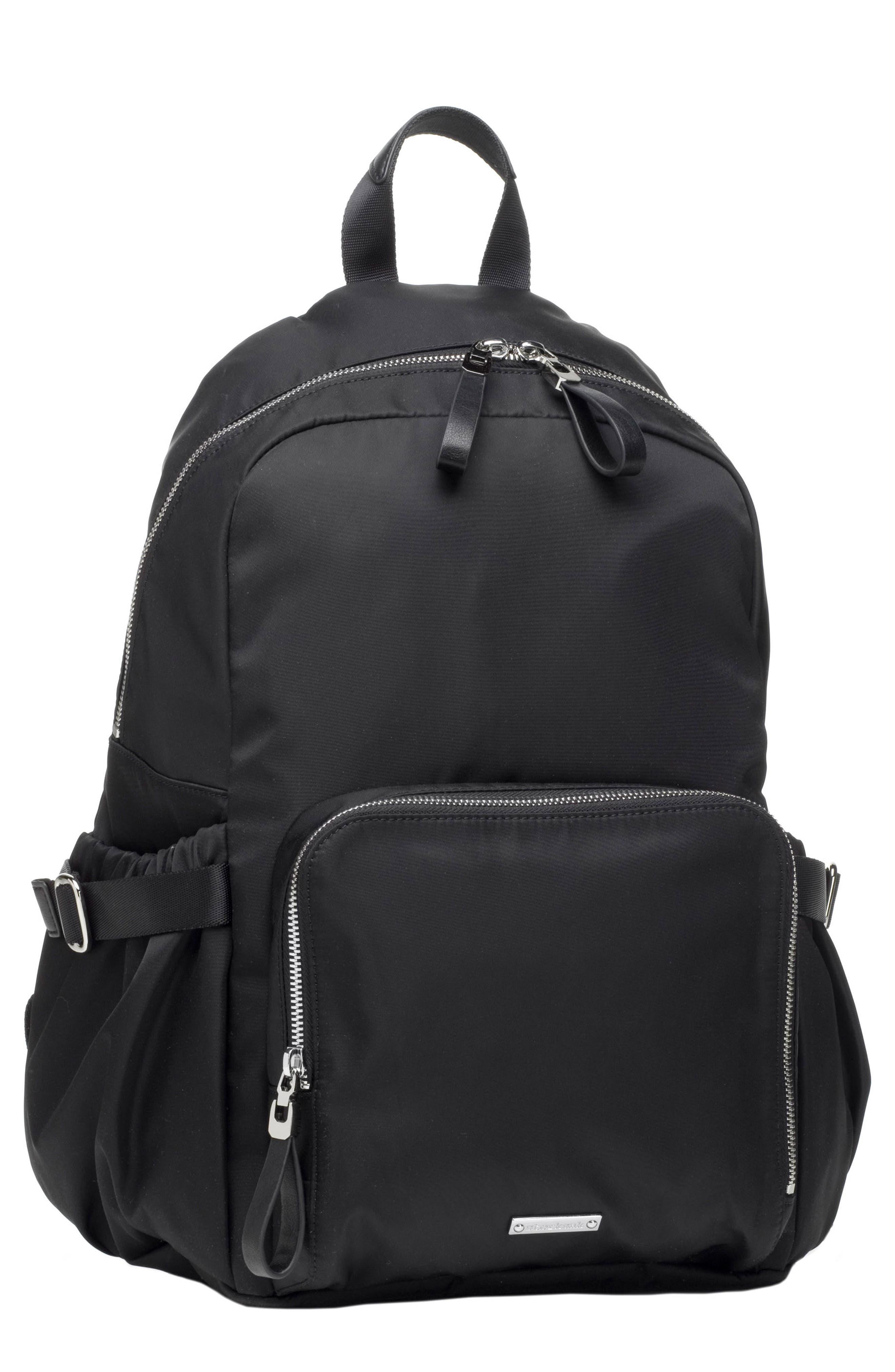 Hero Water Resistant Nylon Backpack Diaper Bag,                         Main,                         color, BLACK