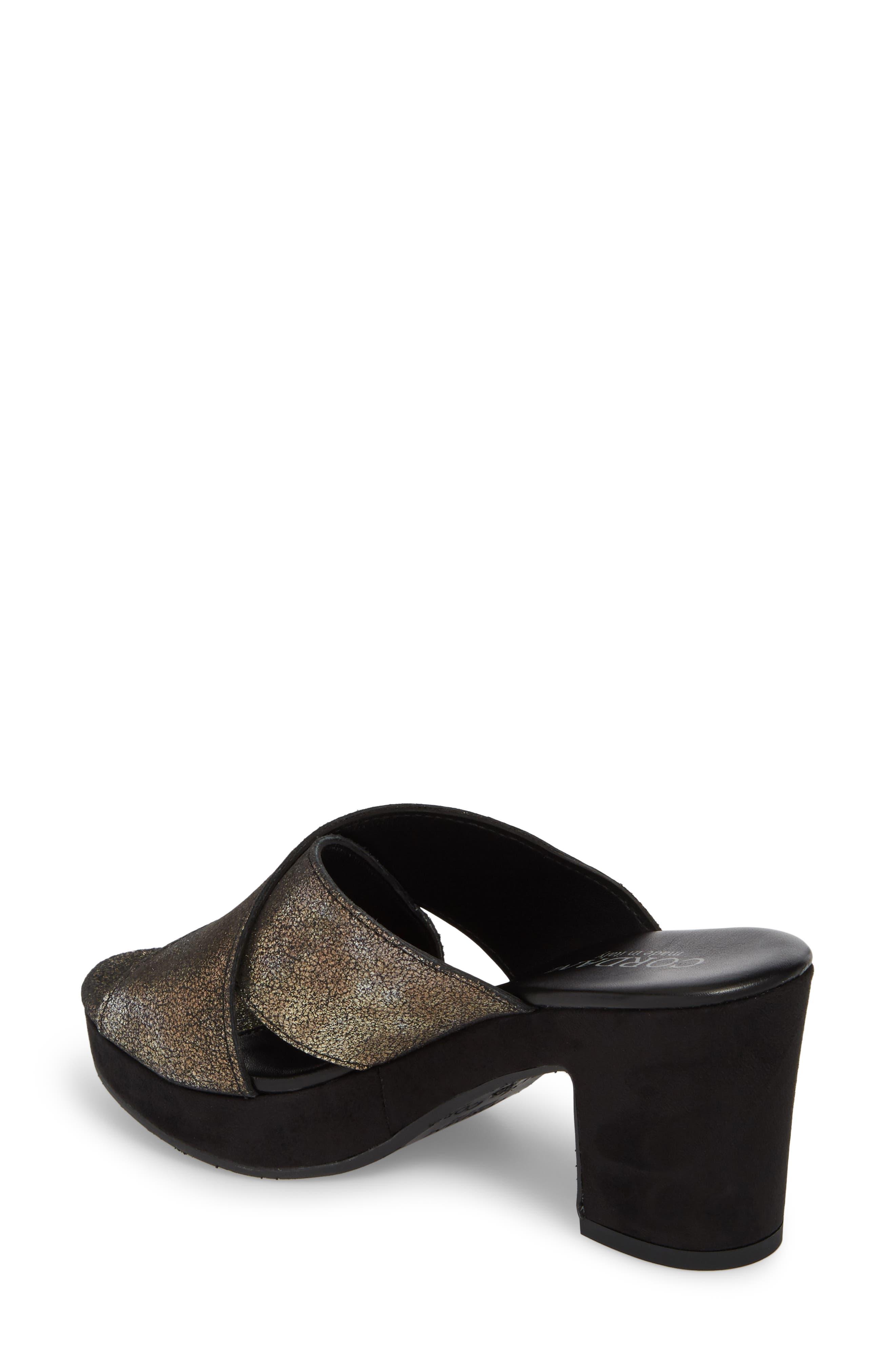 Kimbel Platform Slide Sandal,                             Alternate thumbnail 2, color,                             PEWTER SUEDE