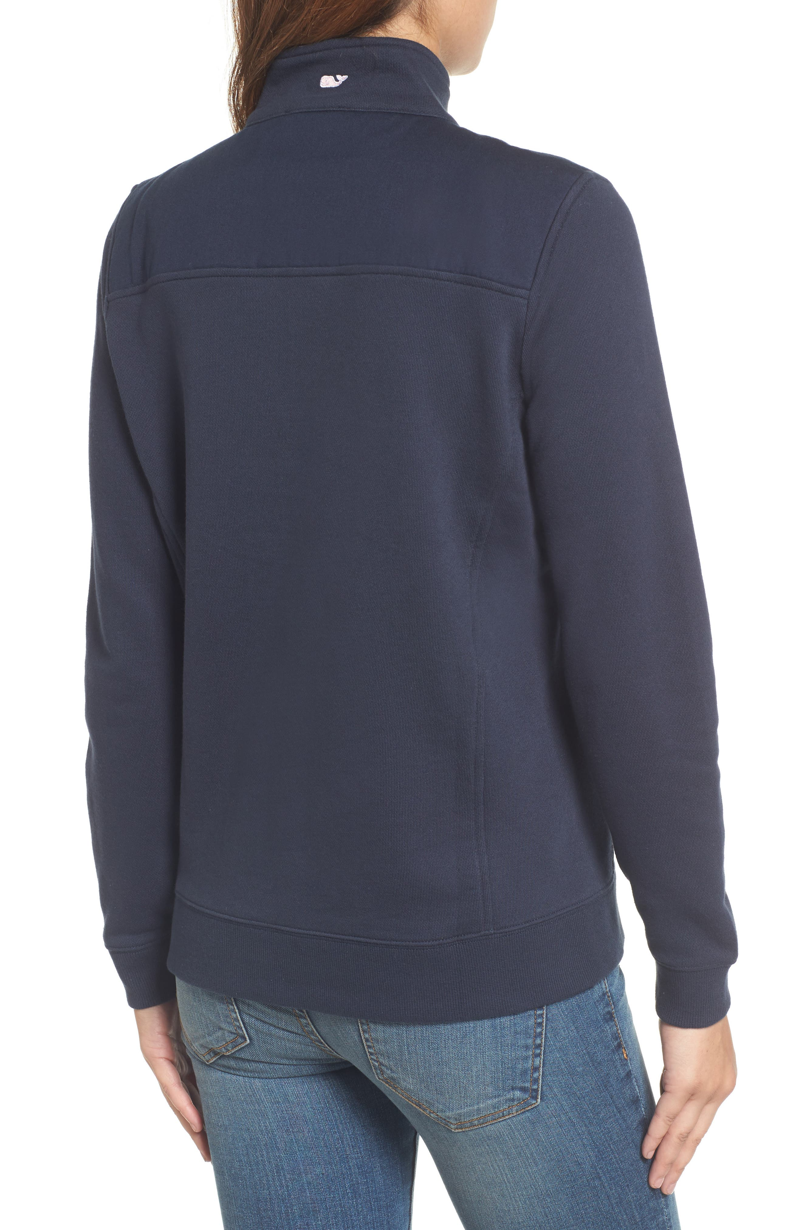 Shep Half Zip French Terry Pullover,                             Alternate thumbnail 2, color,                             VINEYARD NAVY