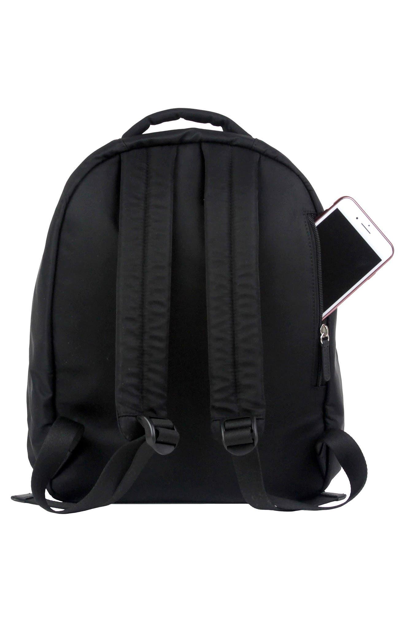 Mini-Go Water Resistant Diaper Backpack,                             Alternate thumbnail 2, color,                             BLACK