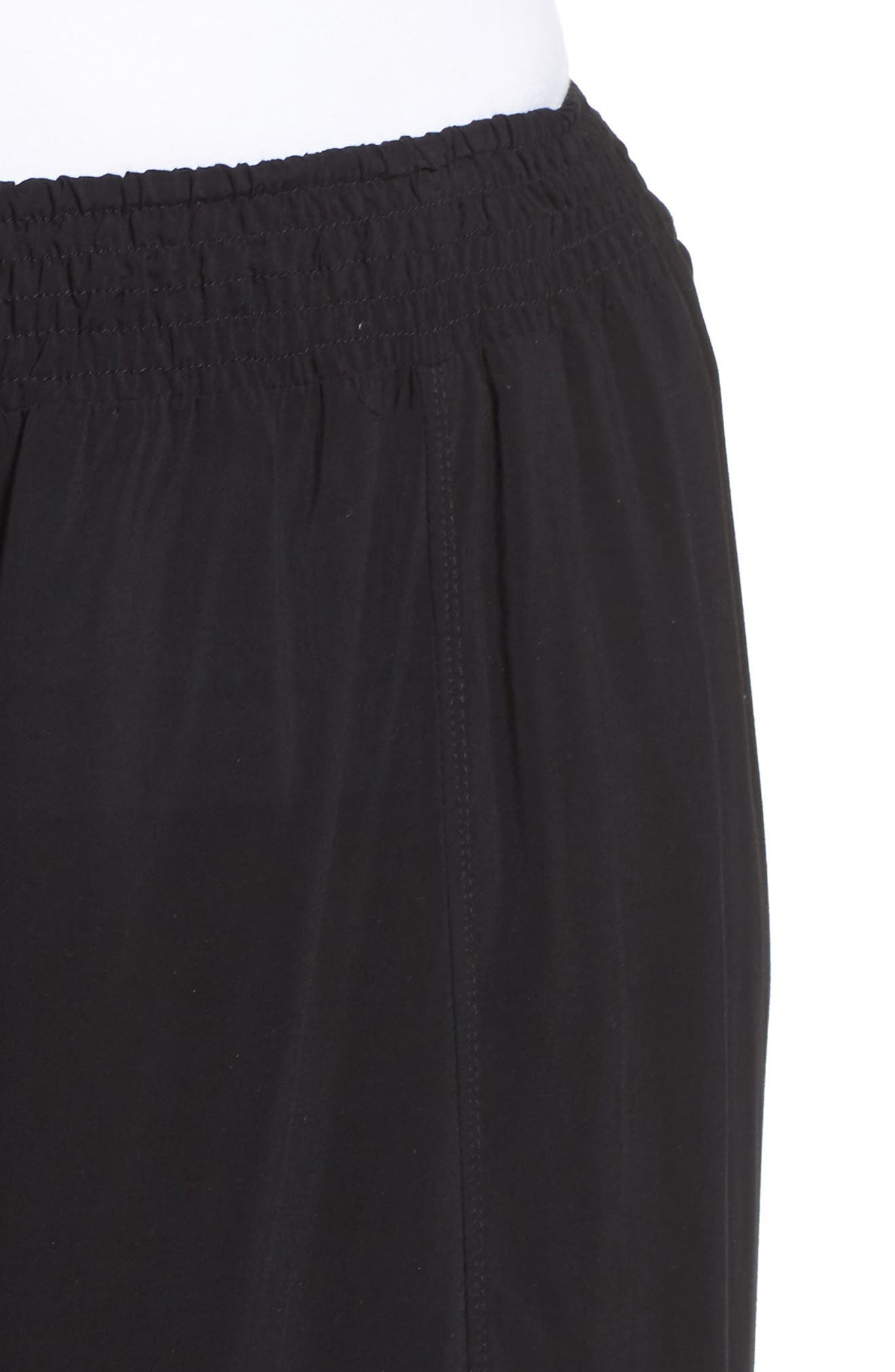 Nima Front Slit Pants,                             Alternate thumbnail 4, color,                             001