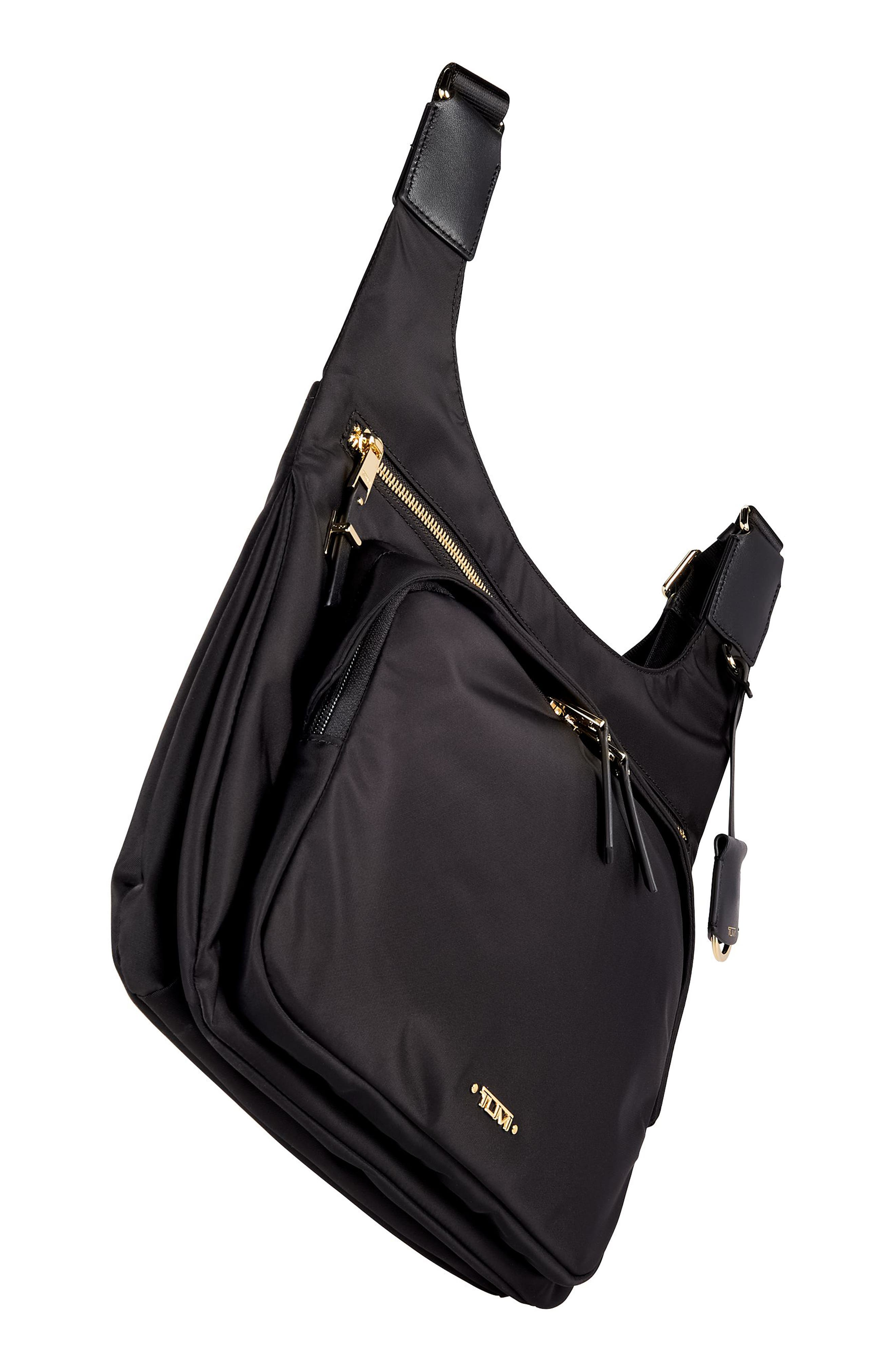 Voyager - Siam Nylon Crossbody Bag,                             Alternate thumbnail 5, color,                             BLACK