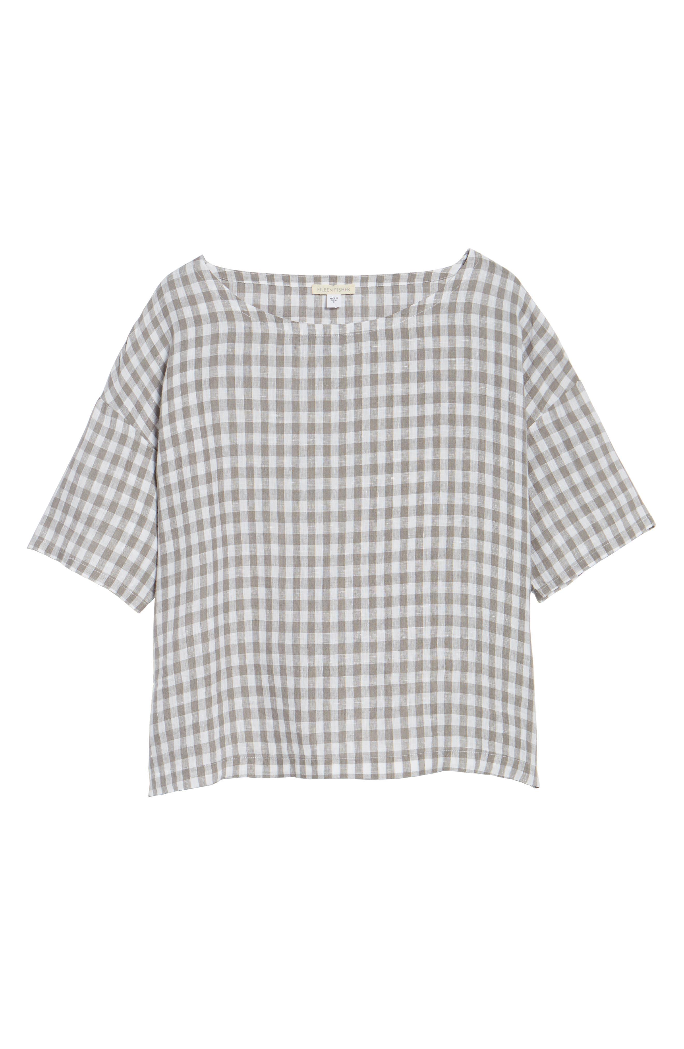 Ballet Neck Box Organic Linen Sweater,                             Alternate thumbnail 6, color,