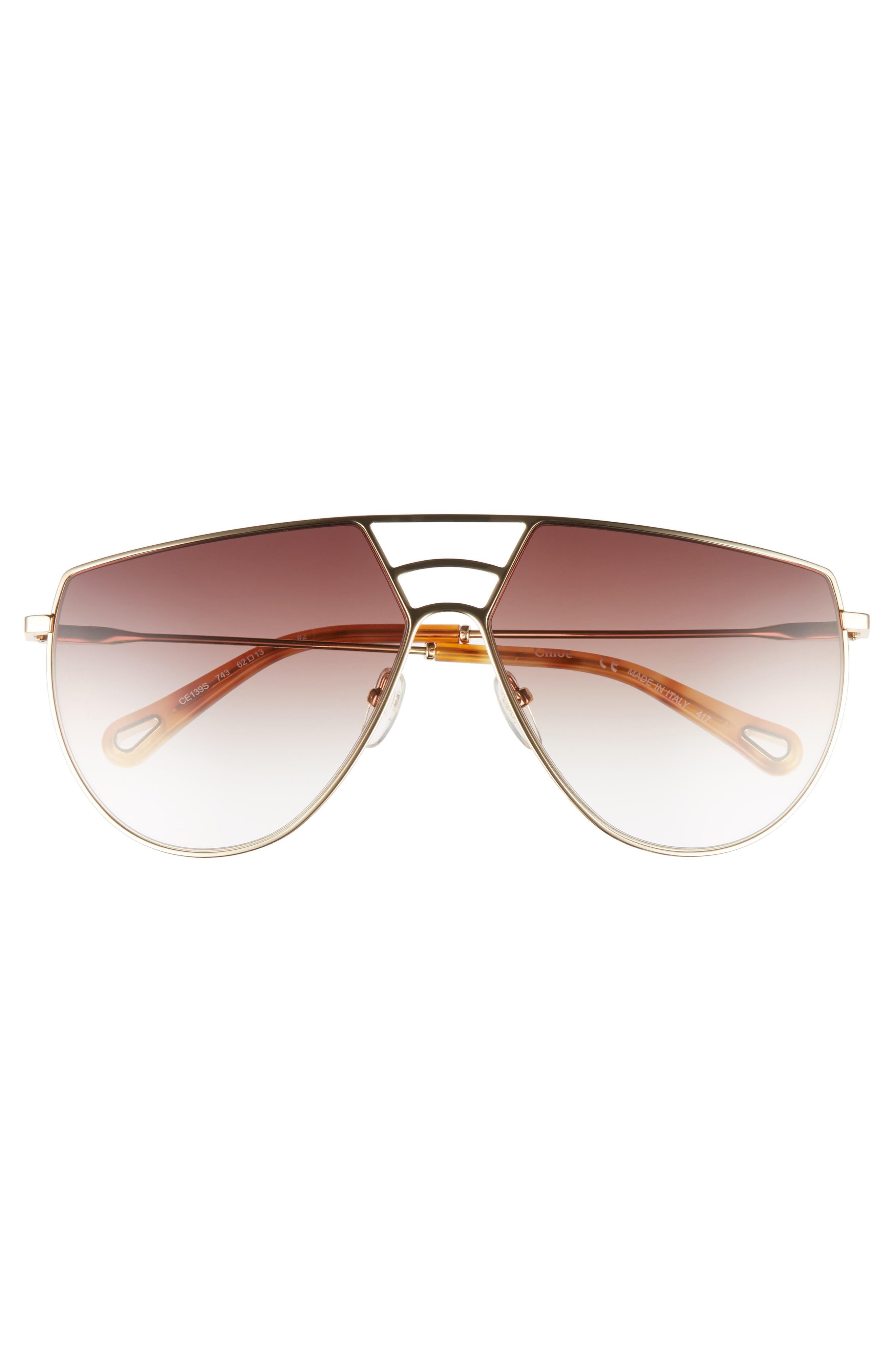 Negative Space 62mm Oversize Aviator Sunglasses,                             Alternate thumbnail 3, color,                             710