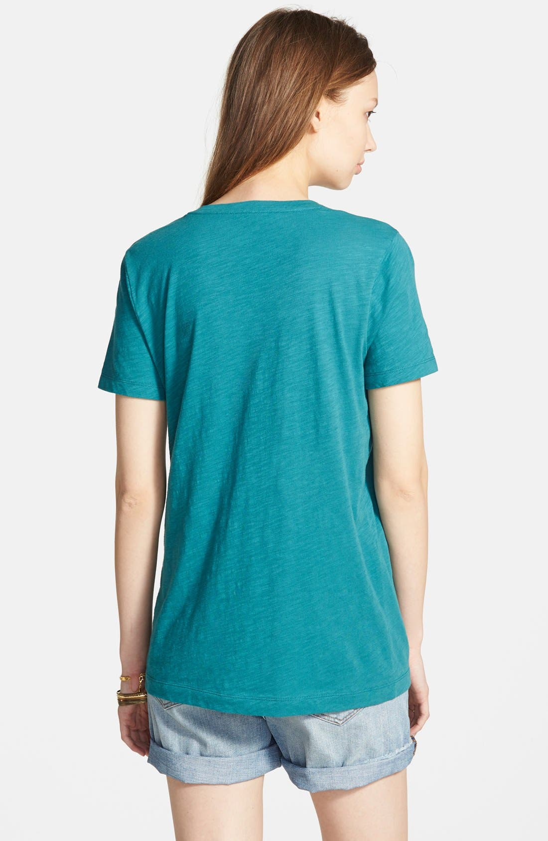Whisper Cotton V-Neck Pocket Tee,                             Alternate thumbnail 63, color,
