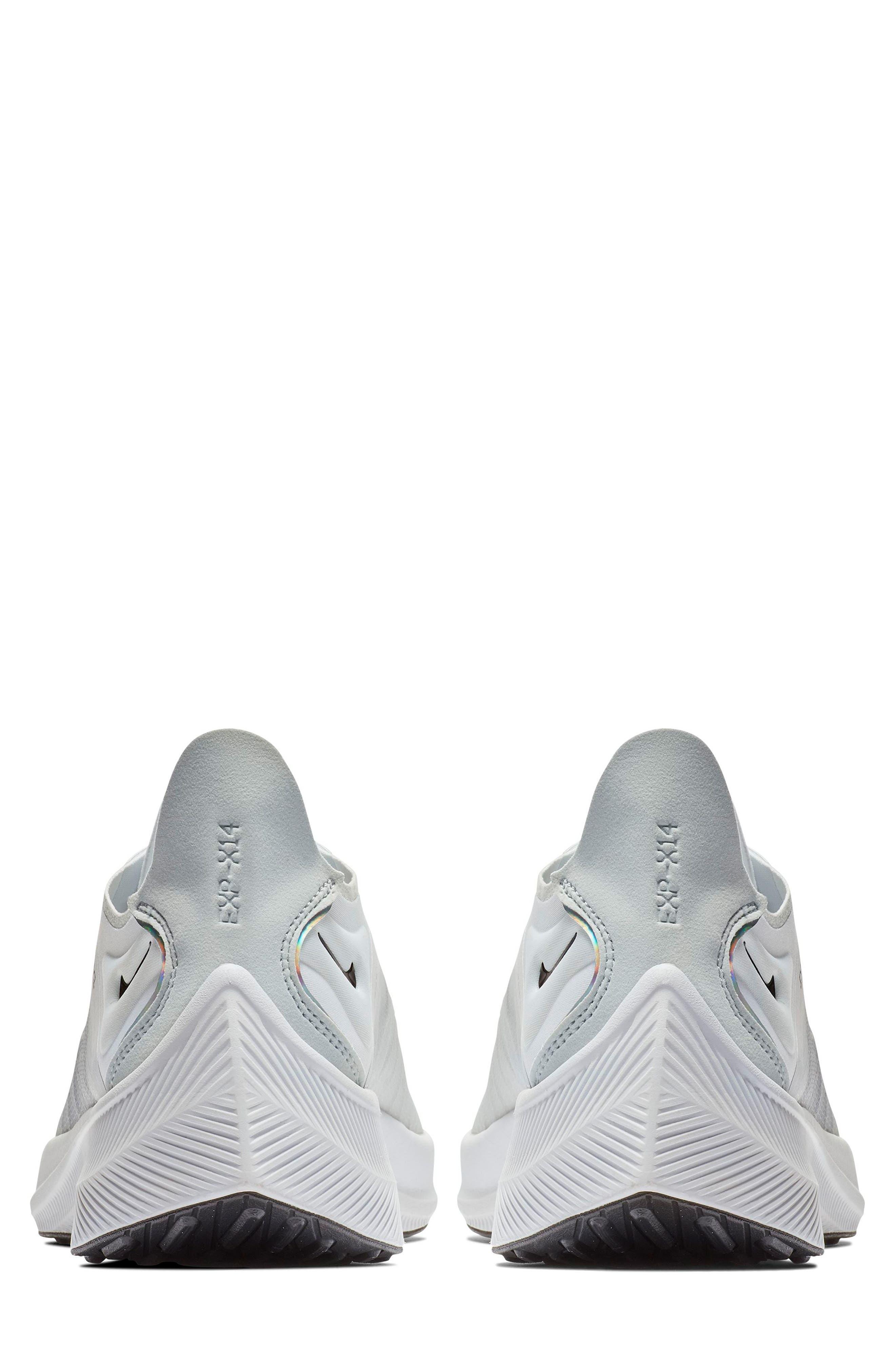 NIKE,                             EXP-X14 Y2K Running Shoe,                             Alternate thumbnail 5, color,                             WHITE/ PURE PLATINUM/ BLACK