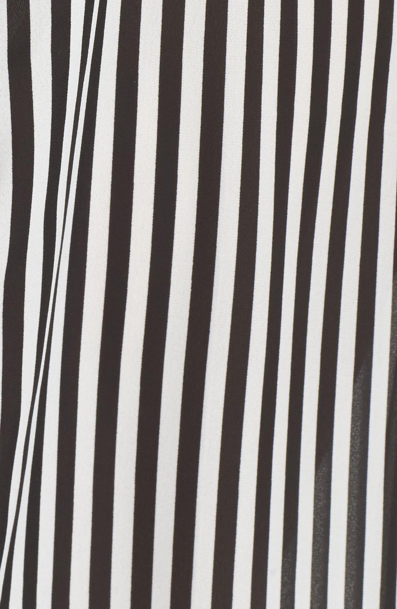 Belted Stripe Shirtdress,                             Alternate thumbnail 5, color,                             161