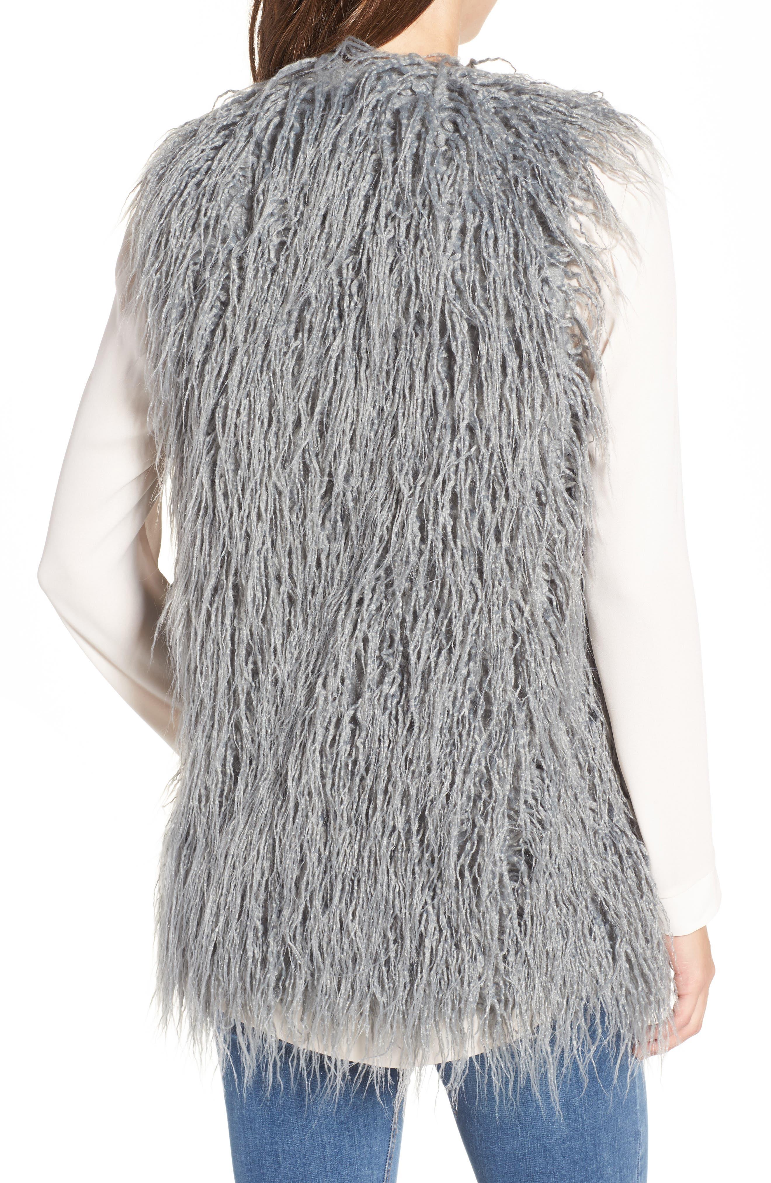 Luis Faux Fur Vest,                             Alternate thumbnail 2, color,