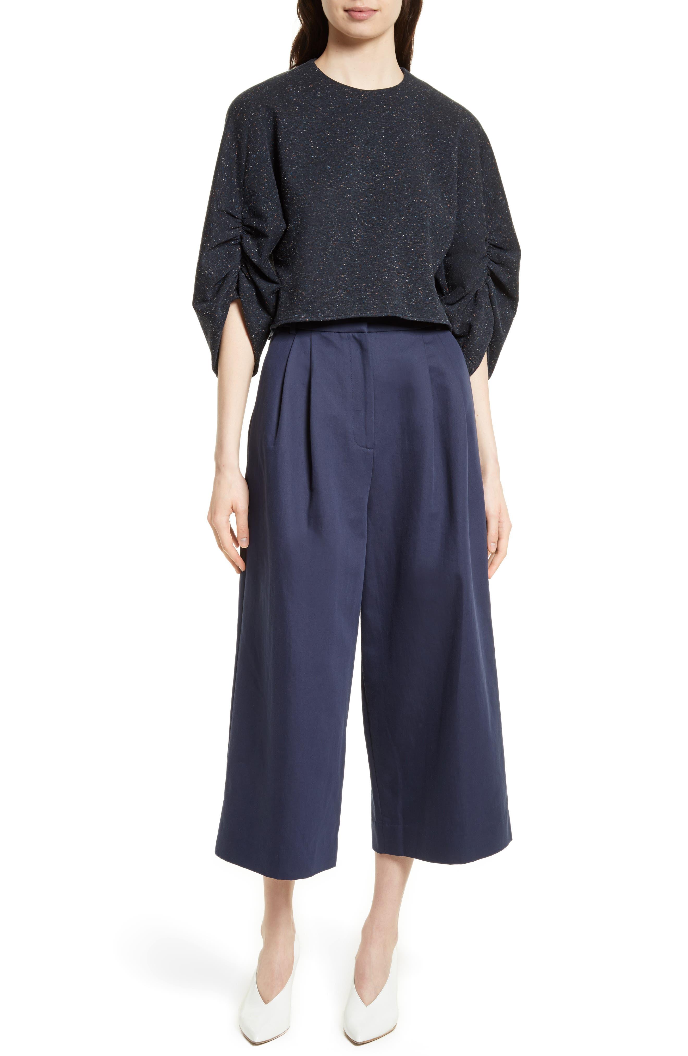 Chassis Plain Weave Crop Pants,                             Alternate thumbnail 6, color,                             402