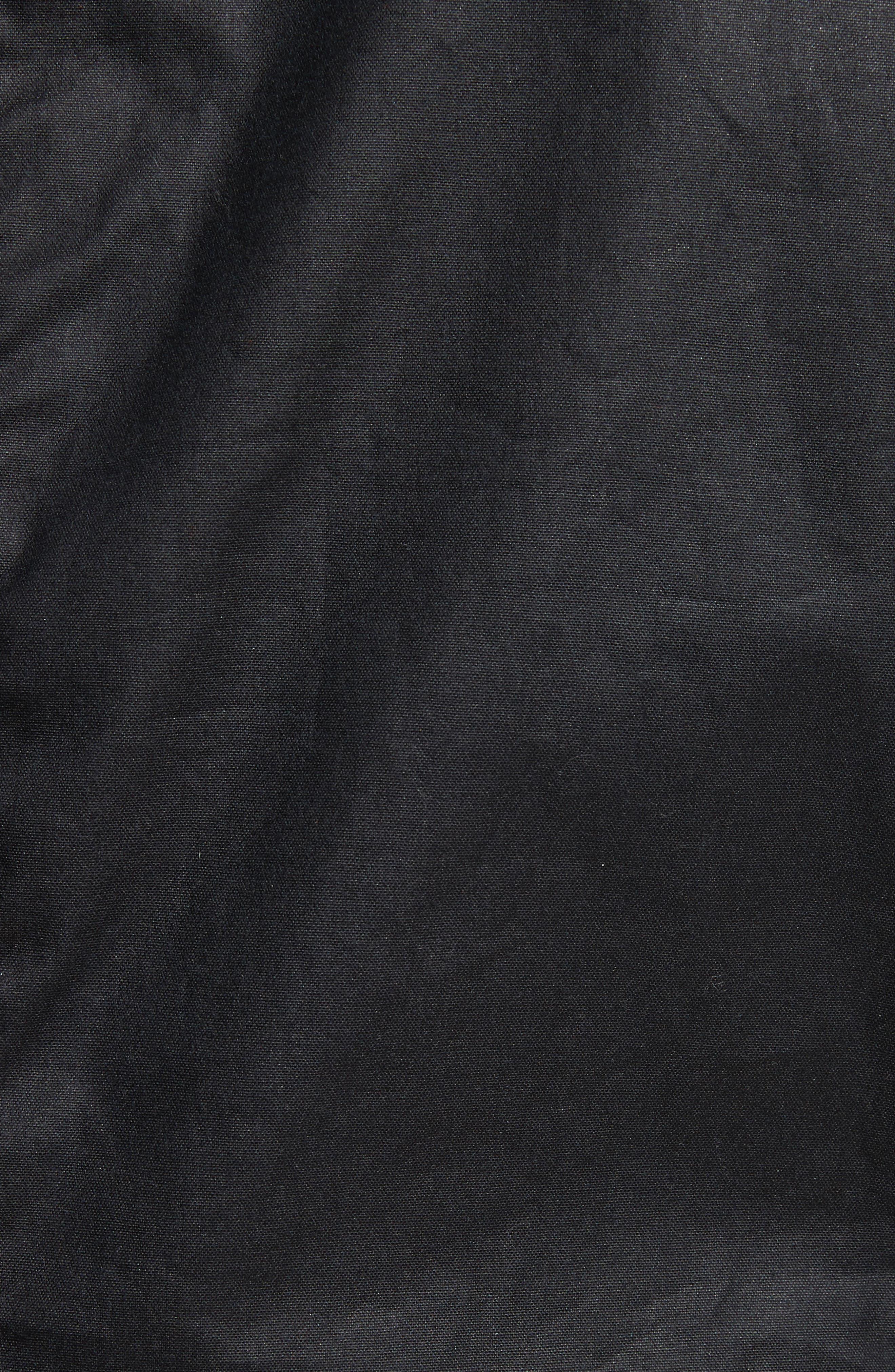 Kelland Coated Cotton Moto Jacket,                             Alternate thumbnail 6, color,                             DARK NAVY