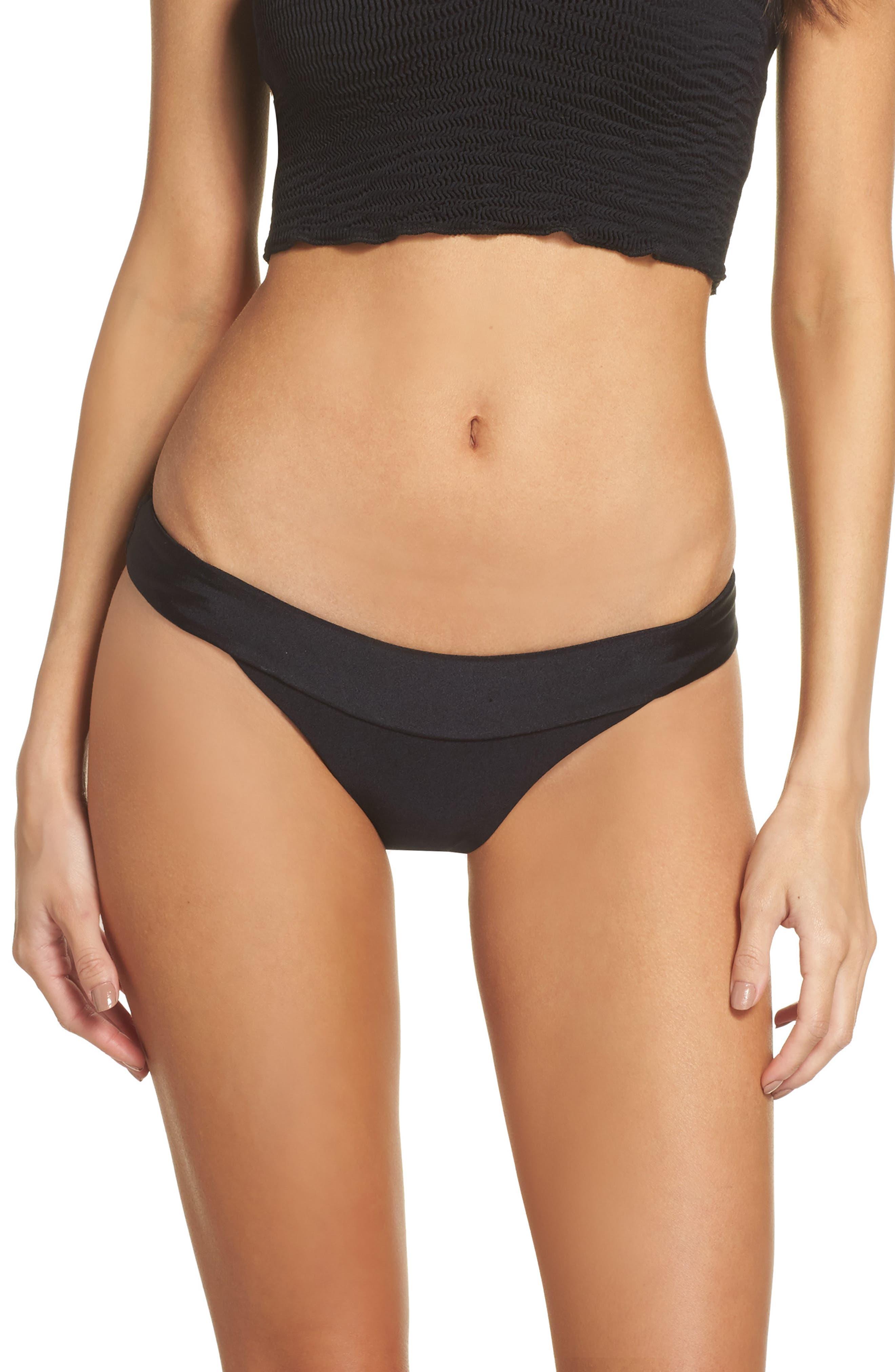 Tubular Solid Bikini Bottoms,                         Main,                         color, 001