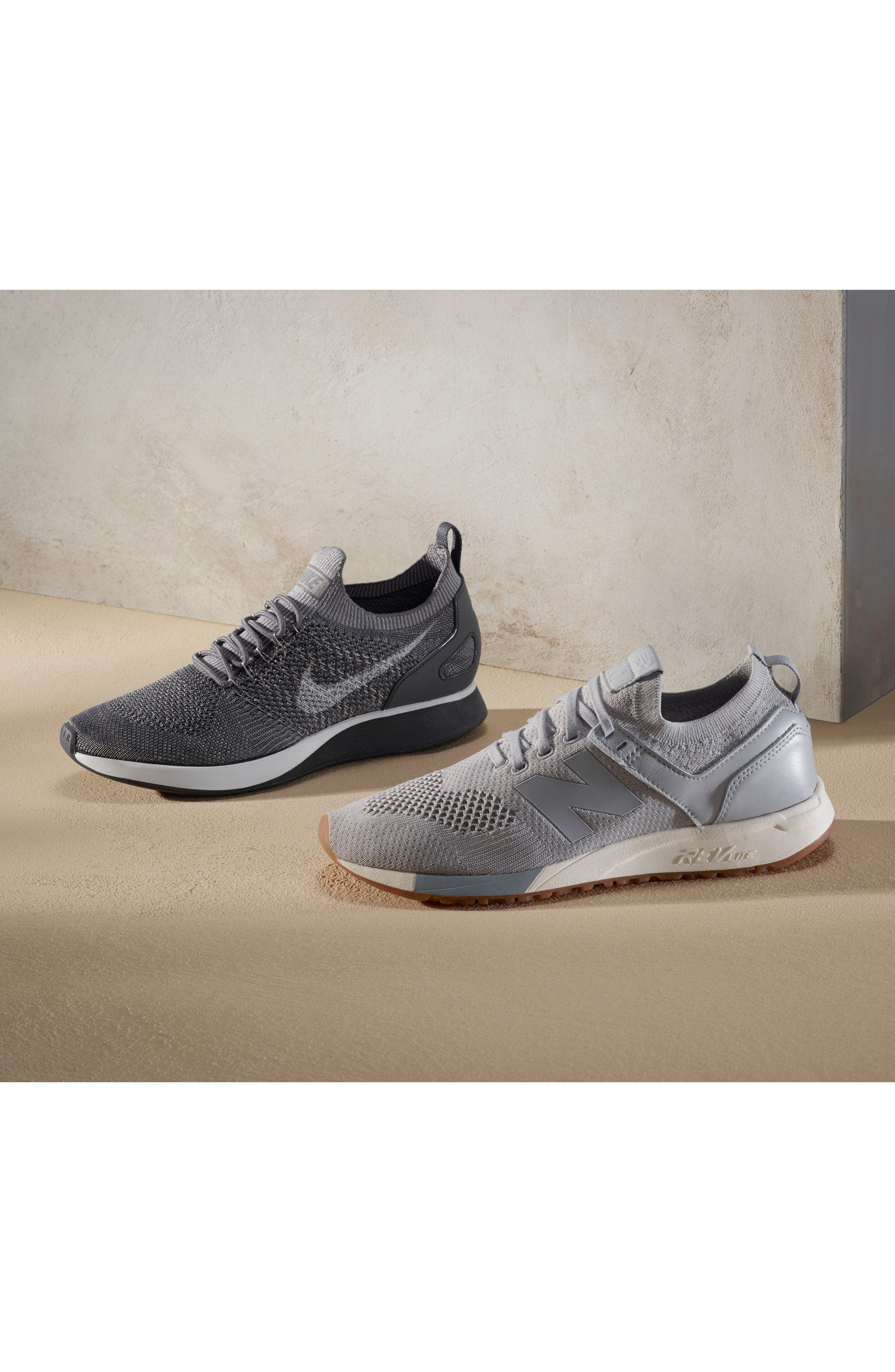 247 Decon Knit Sneaker,                             Alternate thumbnail 7, color,                             001