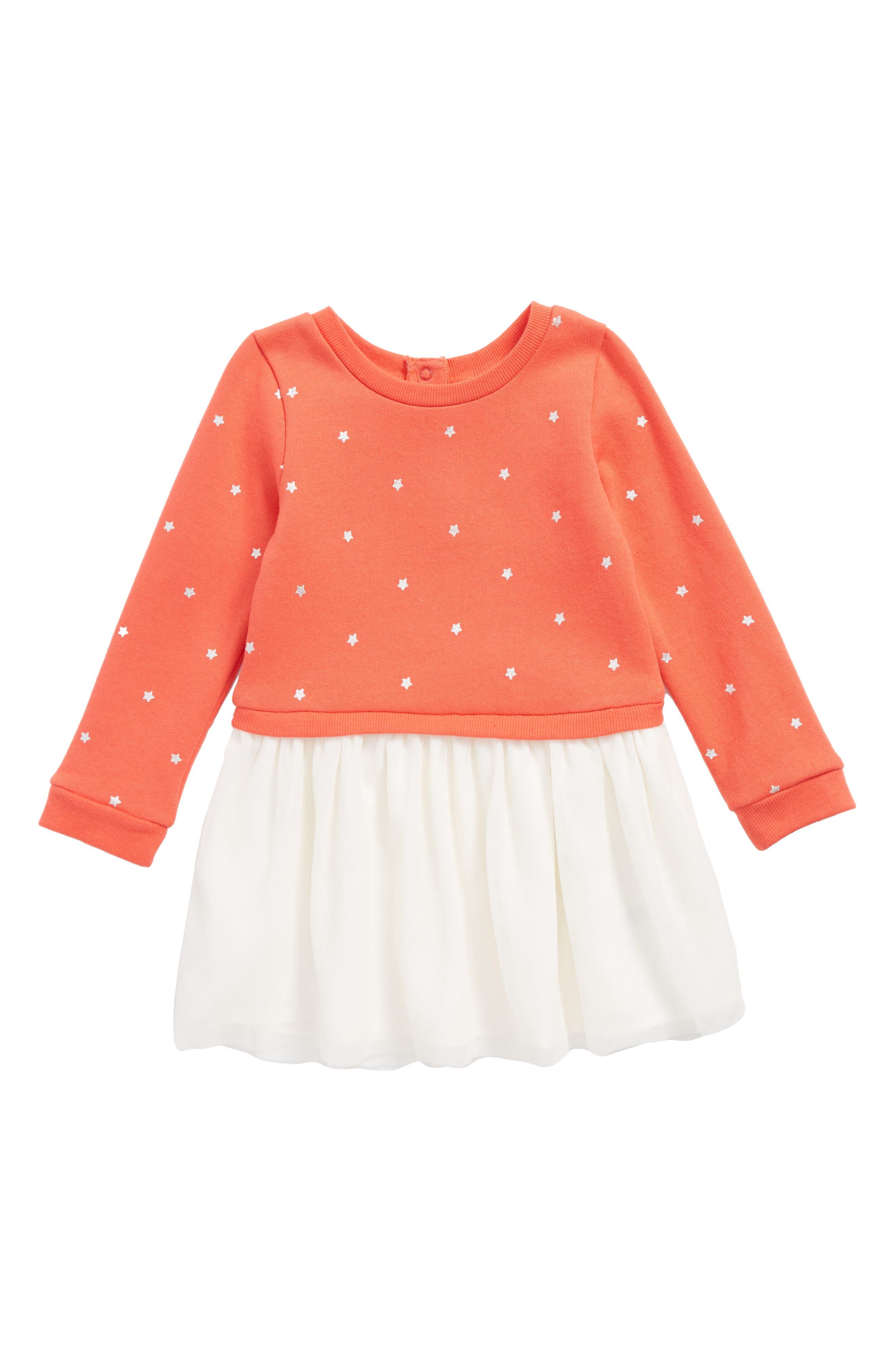 Mixed Media Dress,                         Main,                         color, 610