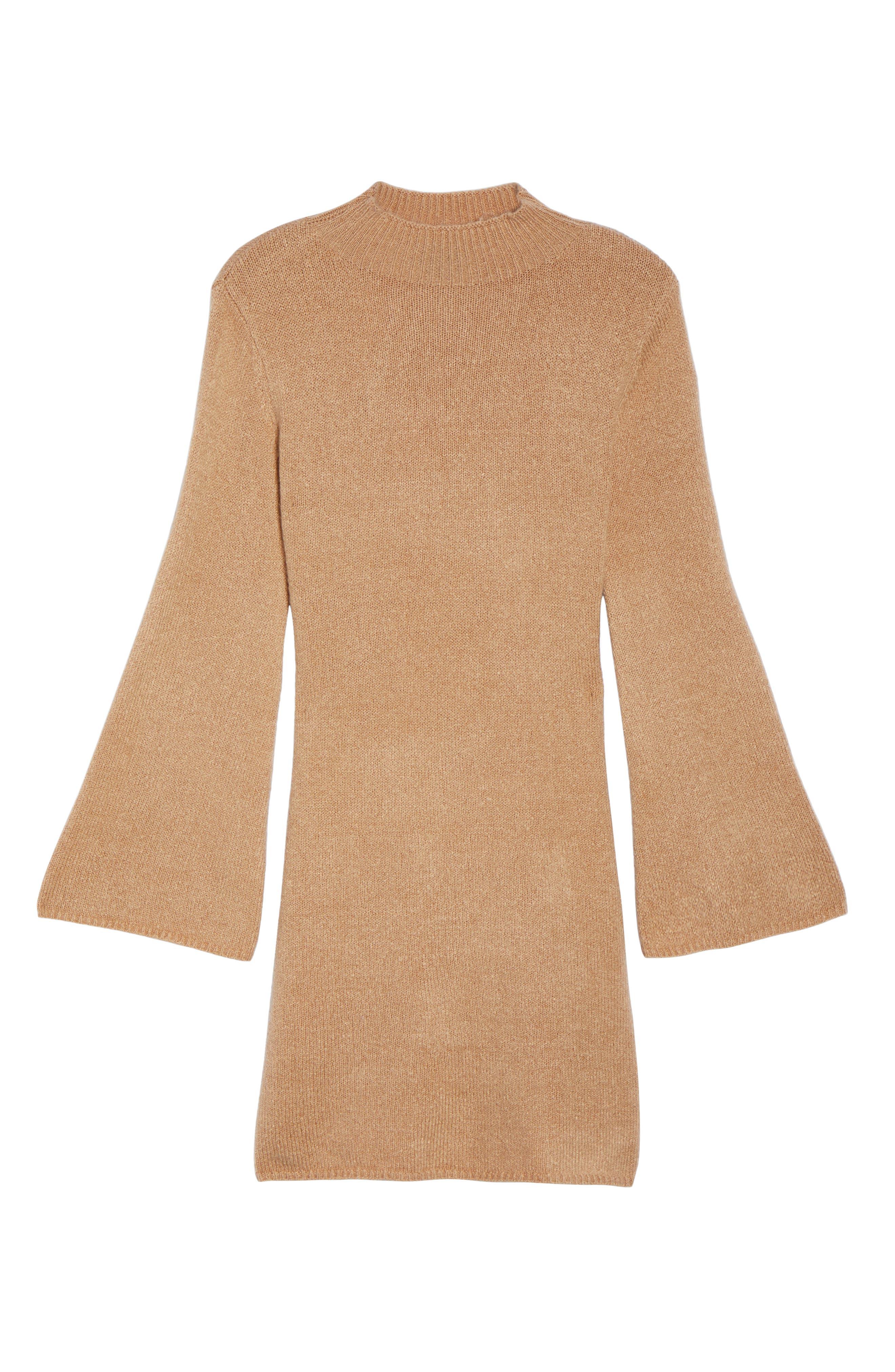Bell Sleeve Knit Dress,                             Alternate thumbnail 6, color,                             208