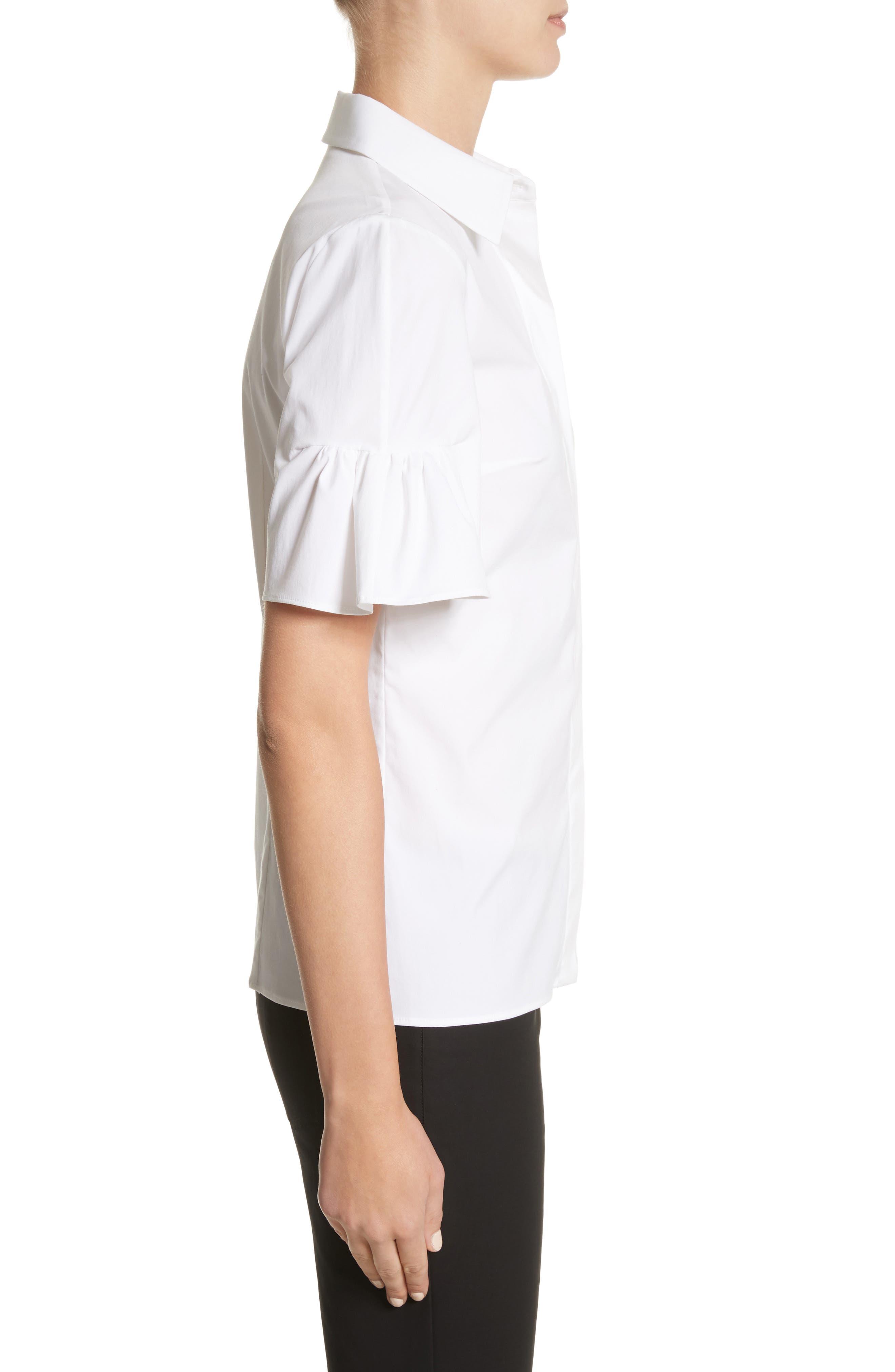 Bell Sleeve Shirt,                             Alternate thumbnail 3, color,                             100