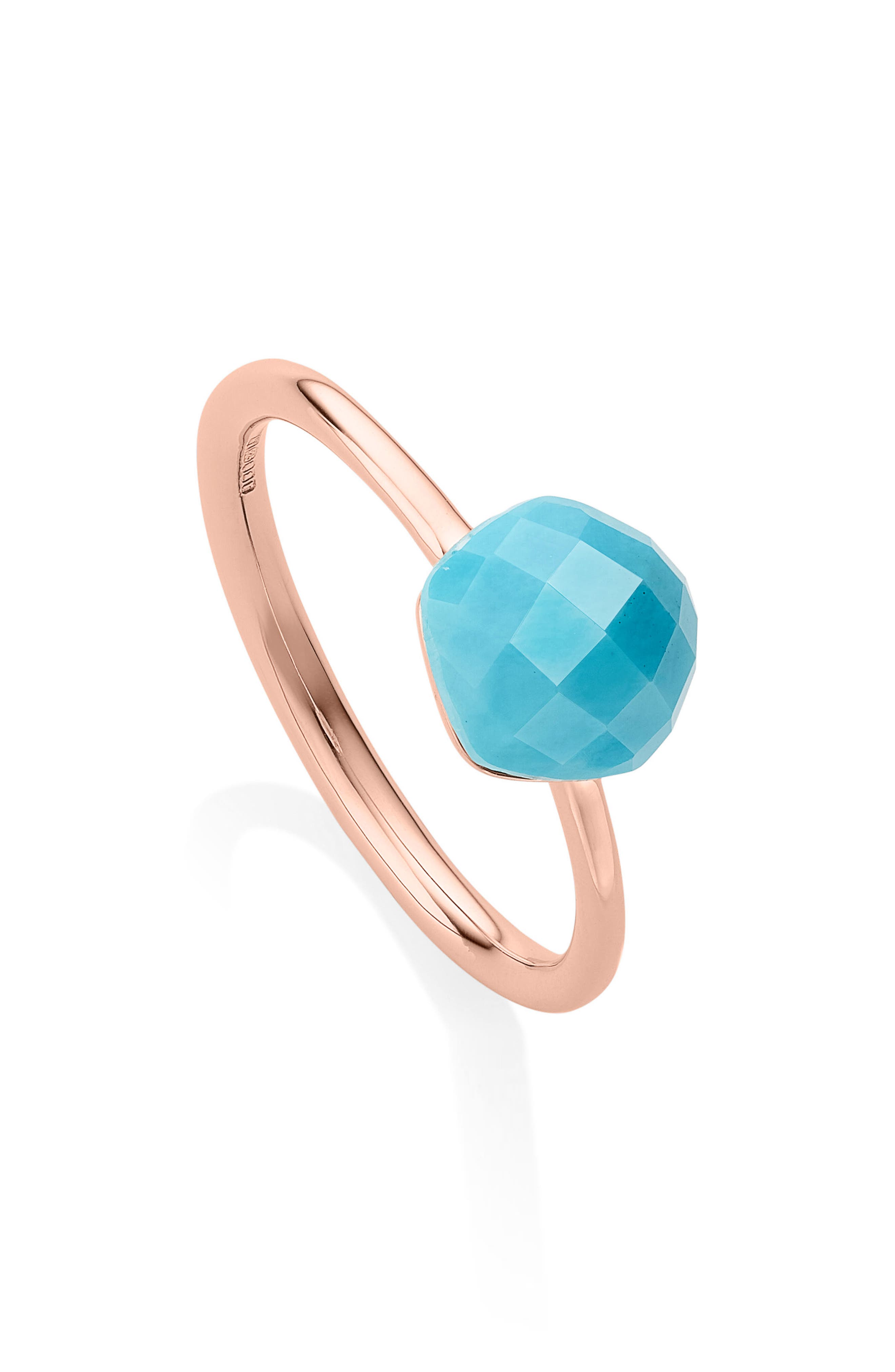 Nura Mini Nugget Stacking Ring,                             Main thumbnail 1, color,                             TURQUOISE