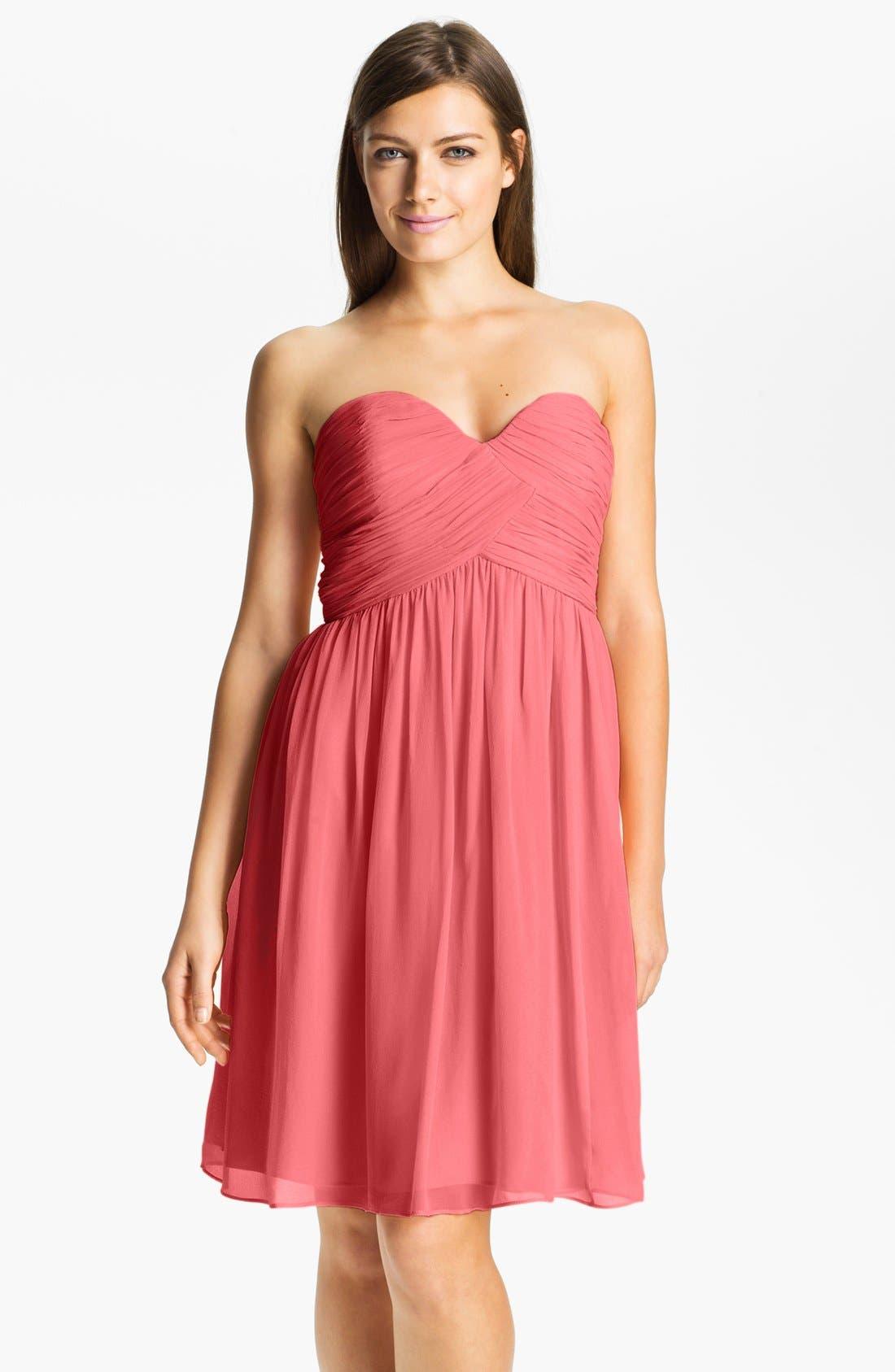 'Morgan' Strapless Silk Chiffon Dress,                             Main thumbnail 36, color,
