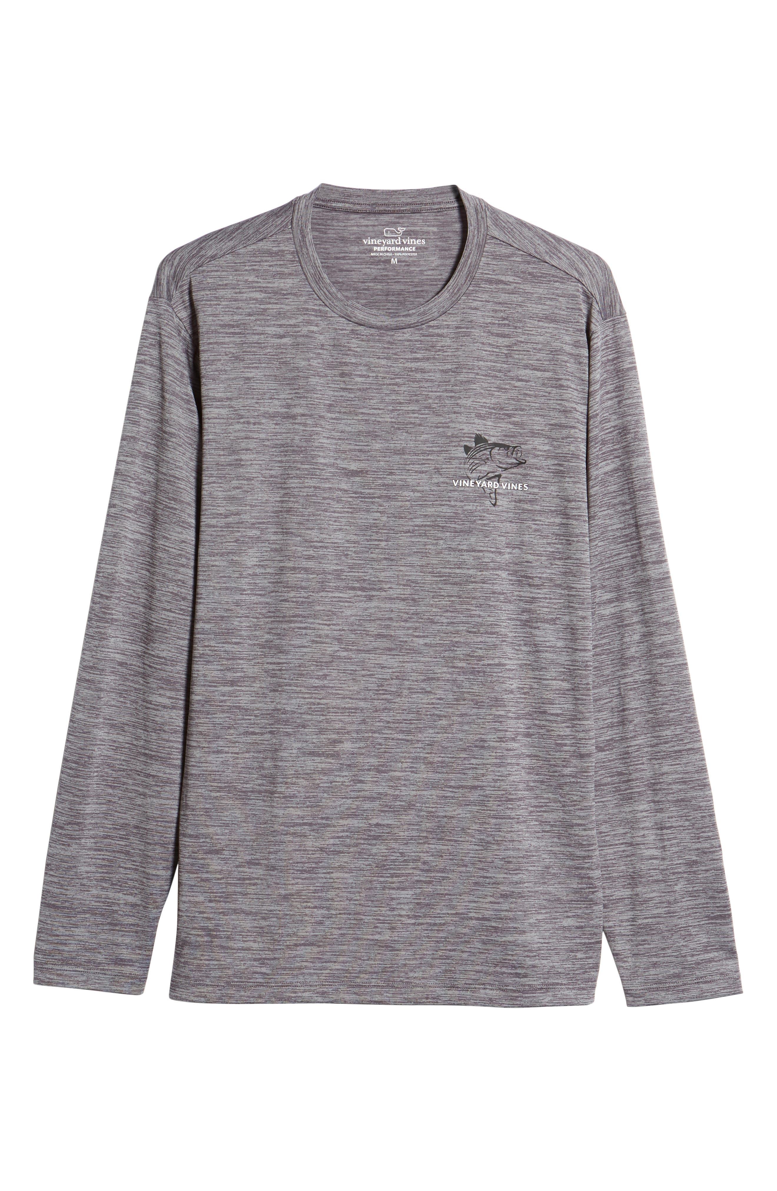 Performance Stripe Bass Long Sleeve T-Shirt,                             Alternate thumbnail 6, color,                             025