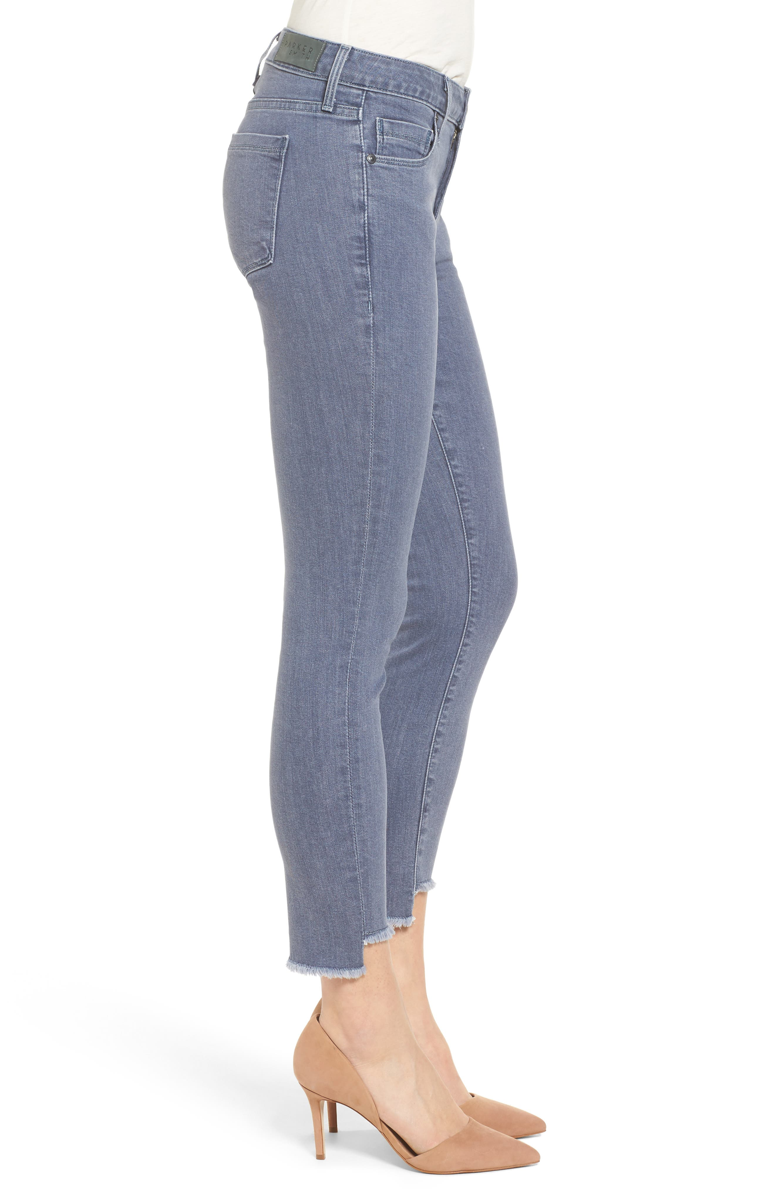 Twisted Seam Skinny Jeans,                             Alternate thumbnail 3, color,                             031