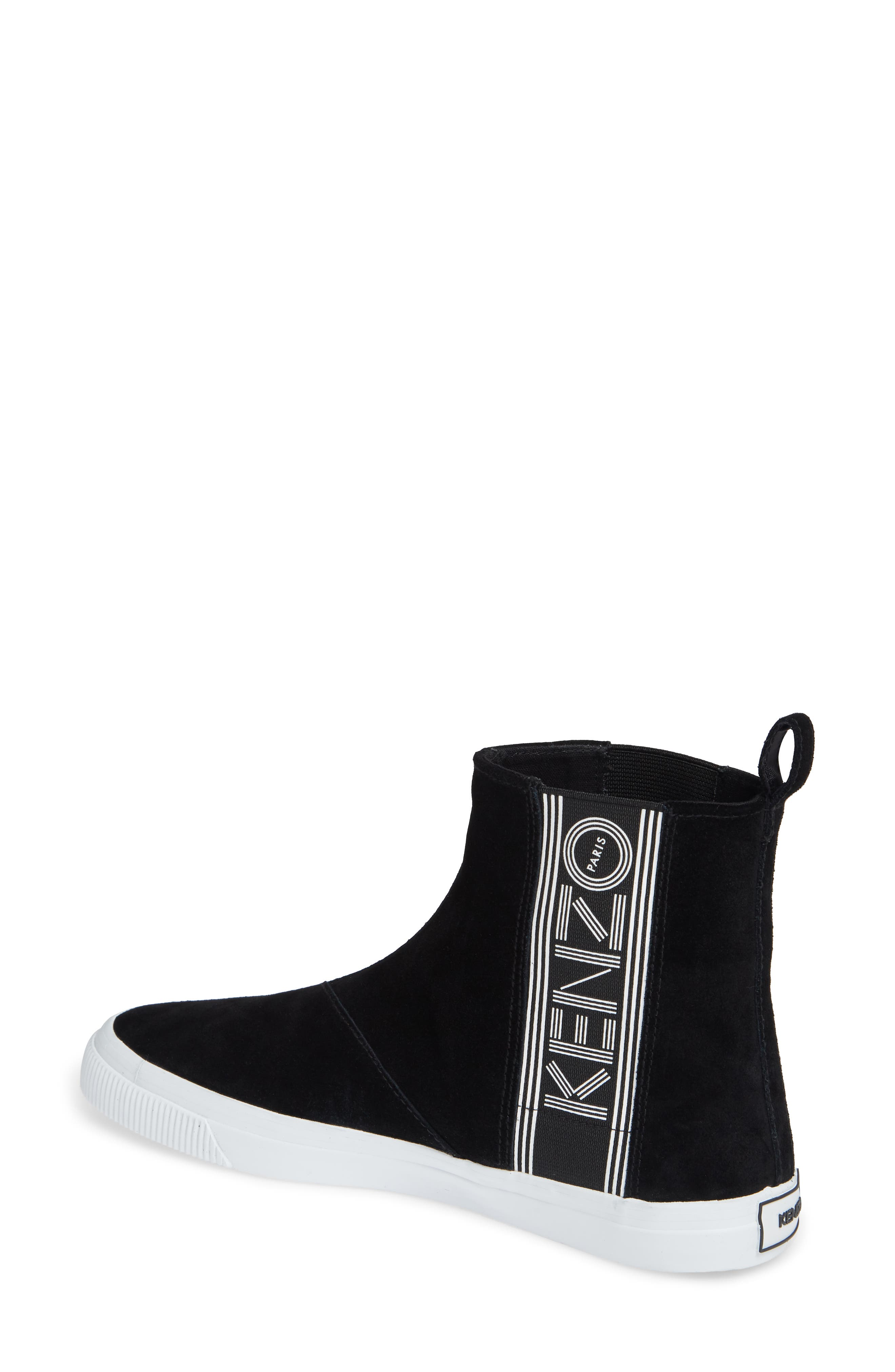 Kapri High Top Sneaker,                             Alternate thumbnail 2, color,                             BLACK