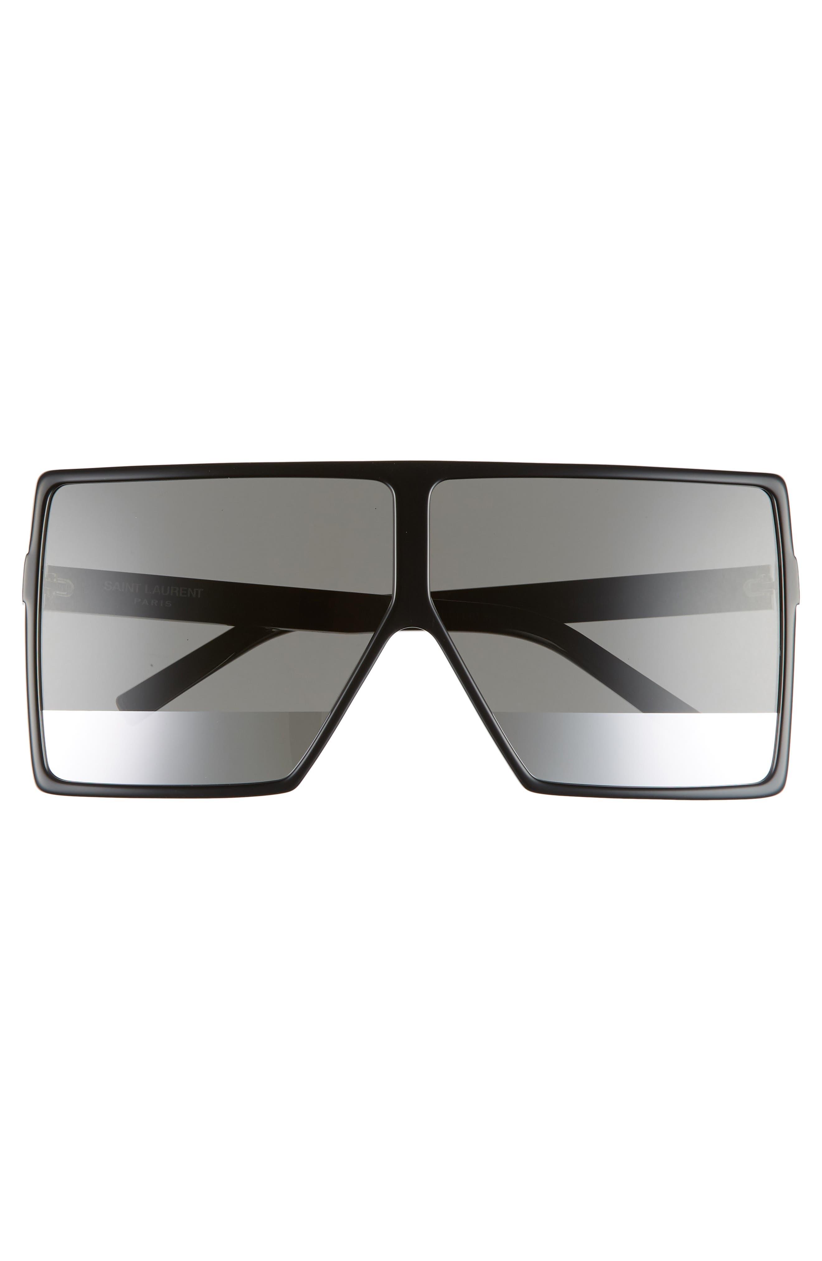 Betty 68mm Shield Sunglasses,                             Alternate thumbnail 3, color,