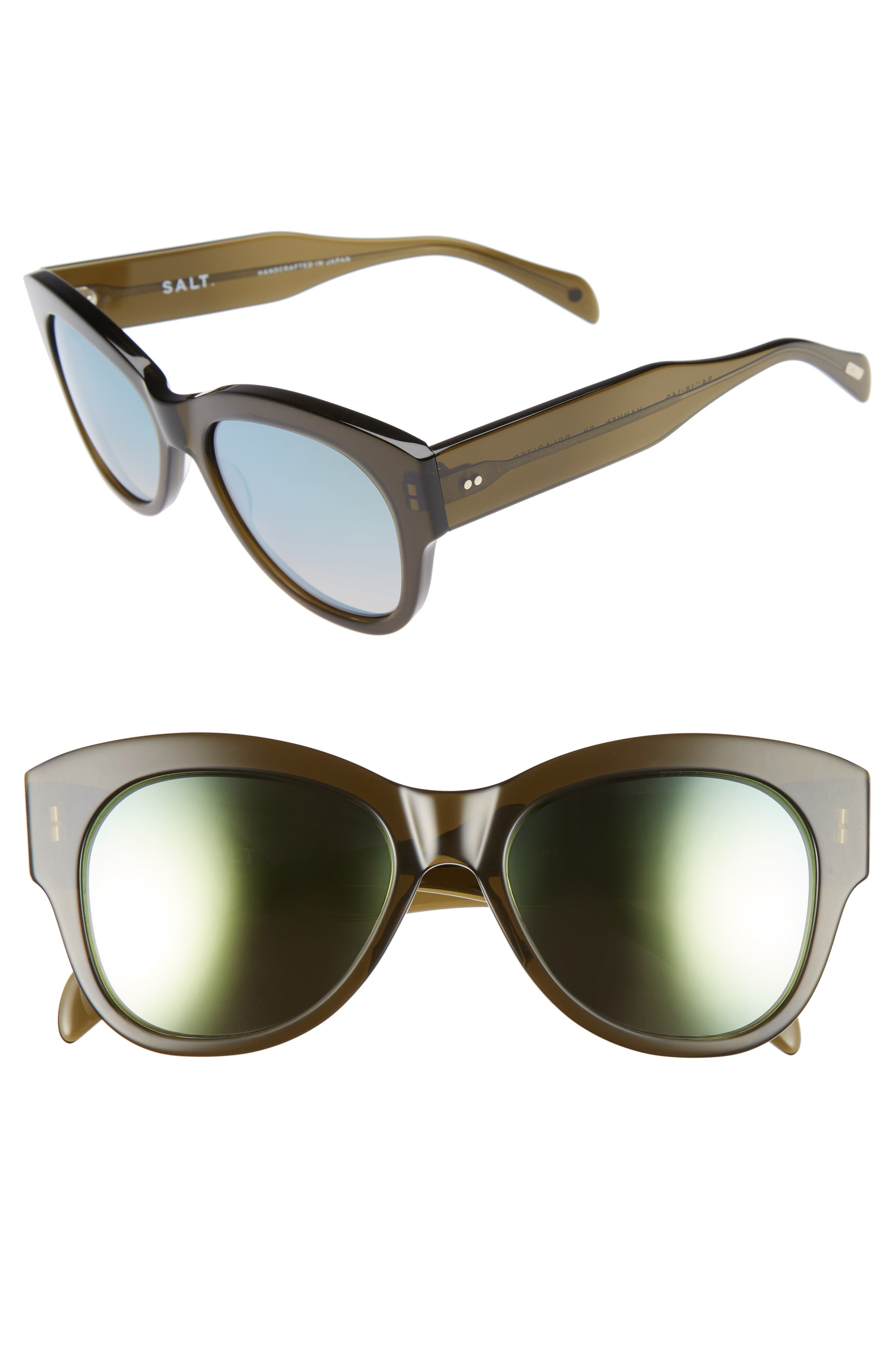 Hammen 54mm Polarized Cat Eye Sunglasses,                             Main thumbnail 1, color,                             DRIED HERB