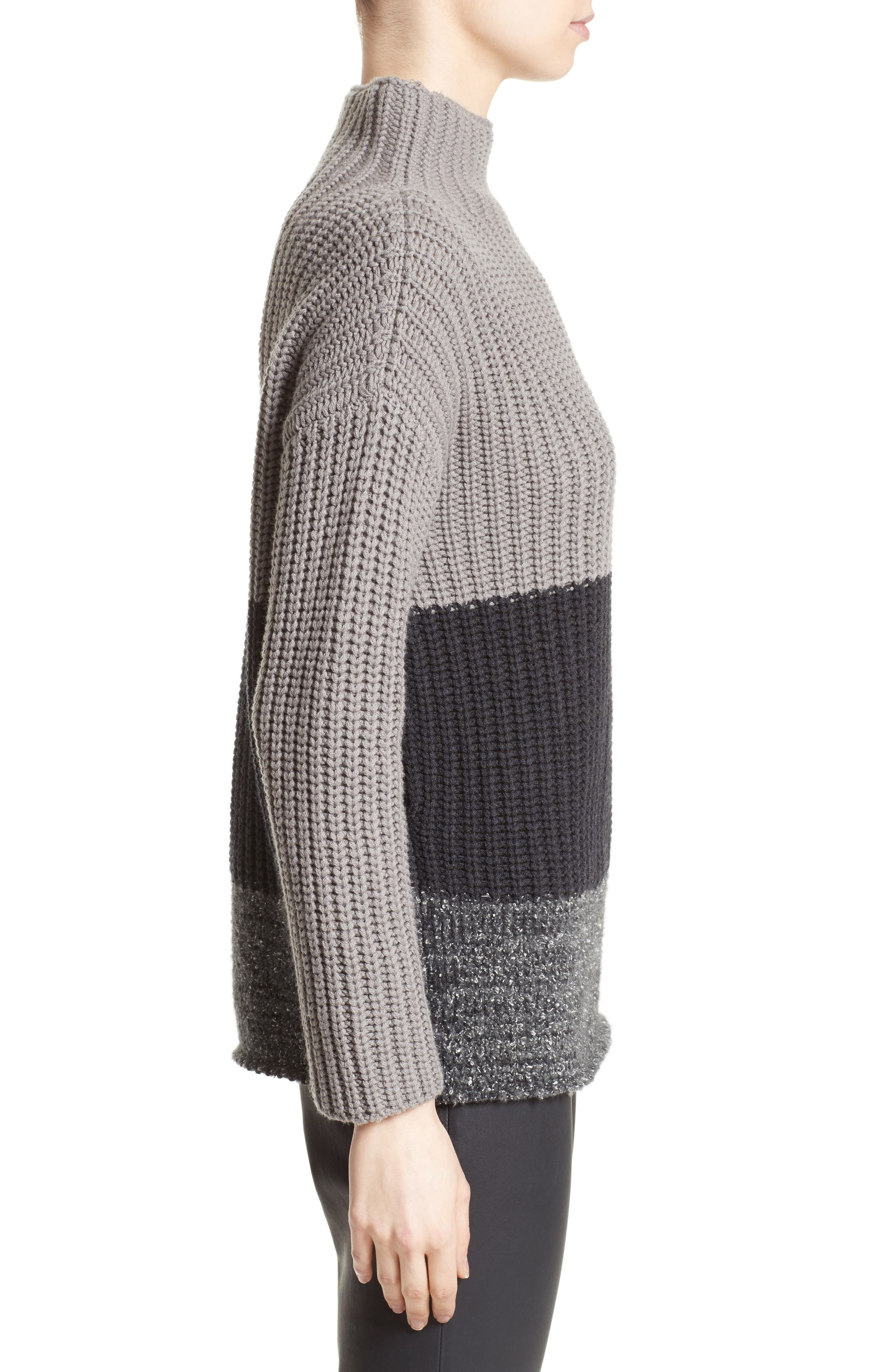 Ribbed Colorblock Sweater,                             Alternate thumbnail 3, color,                             021