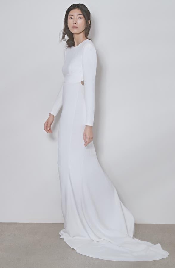 4a7d37c8833 Stella McCartney F18 Ruby Long Sleeve Cutout Wedding Dress