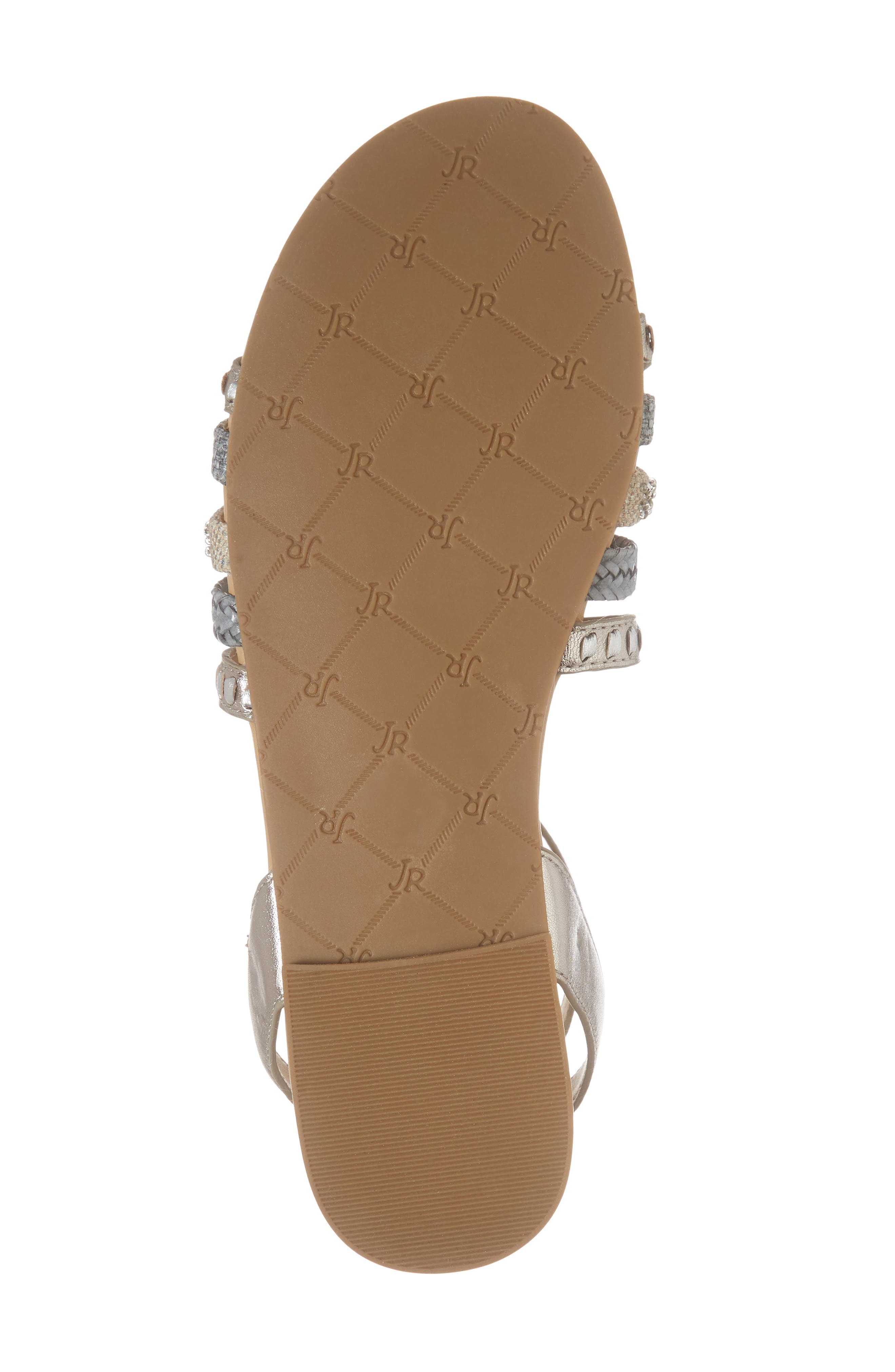 Hannah Braided Embellished Sandal,                             Alternate thumbnail 6, color,                             040