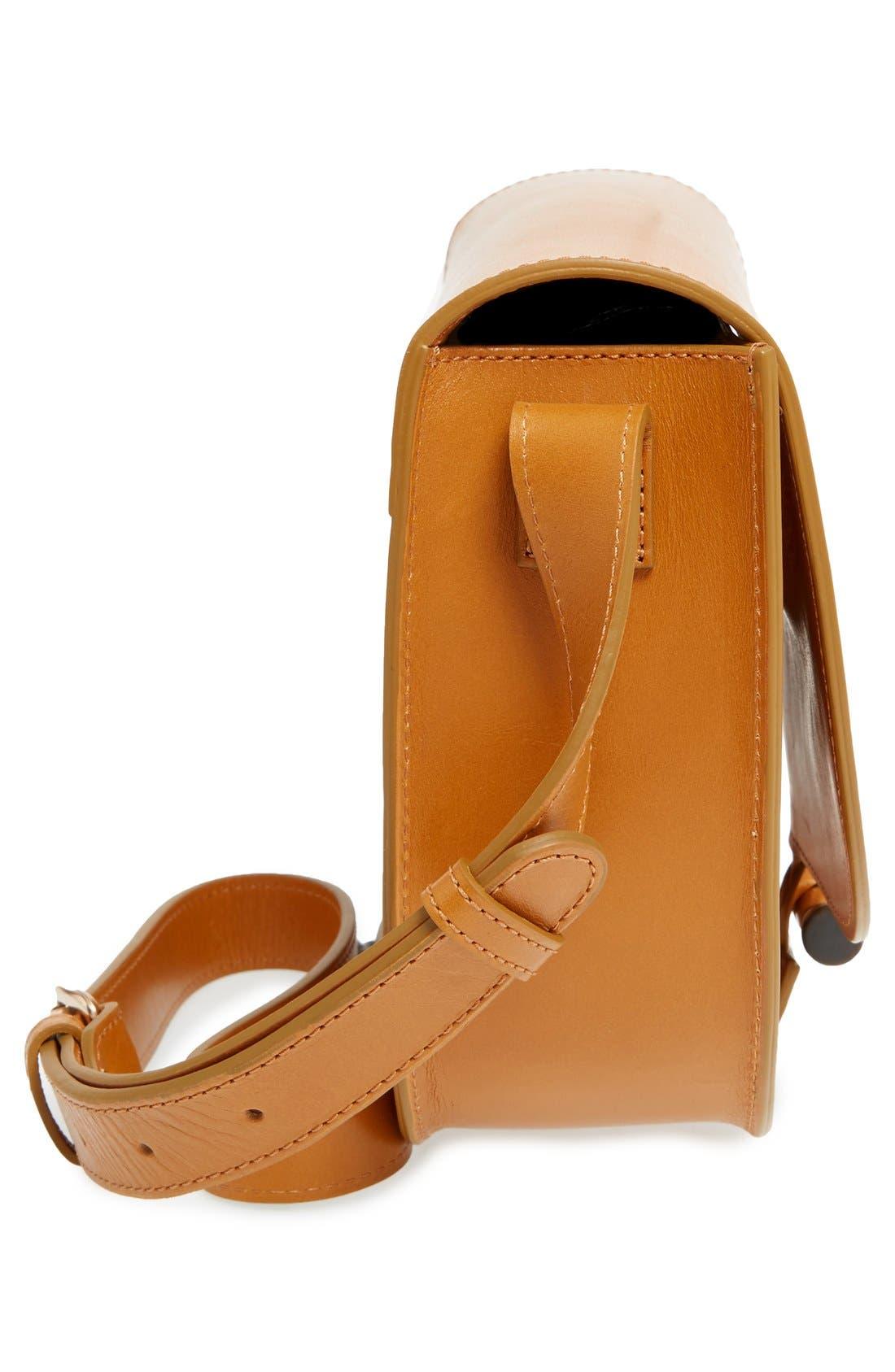 'Sac June' Leather Shoulder Bag,                             Alternate thumbnail 5, color,                             700