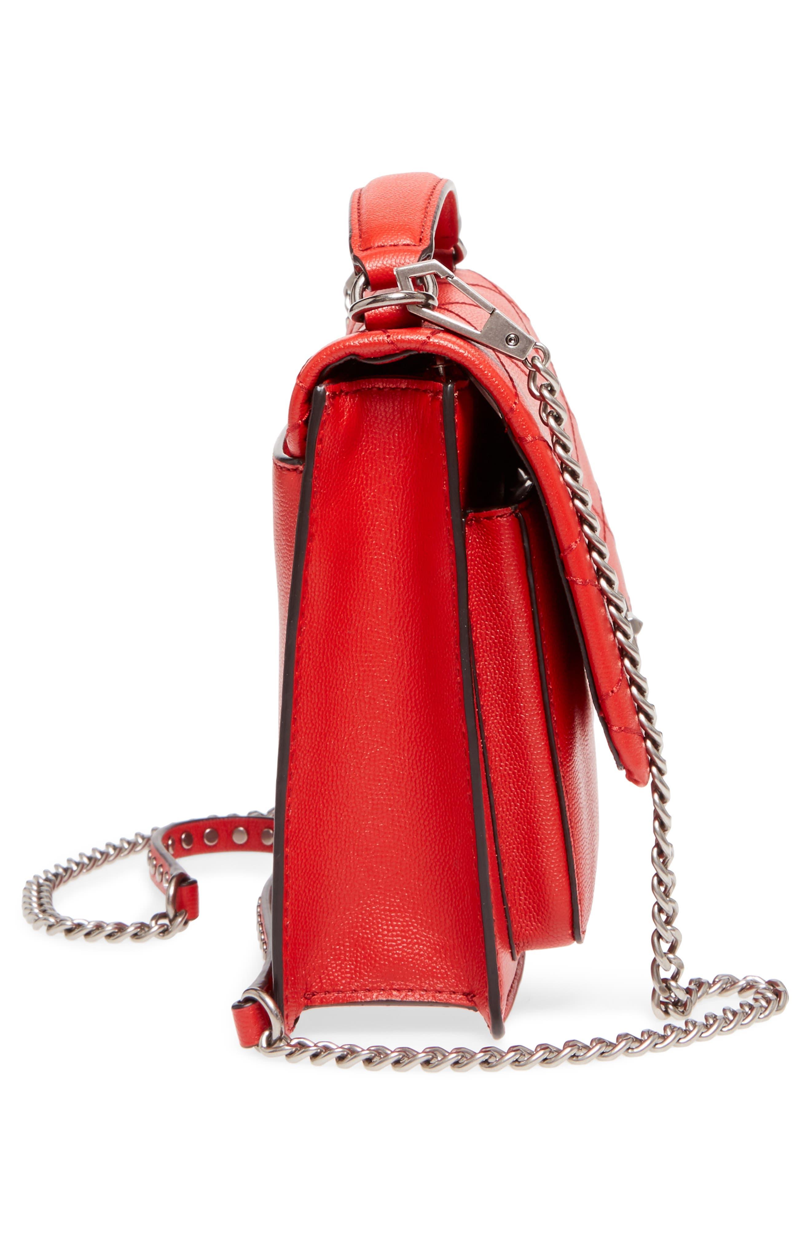Medium Je T'aime Convertible Leather Crossbody Bag,                             Alternate thumbnail 47, color,