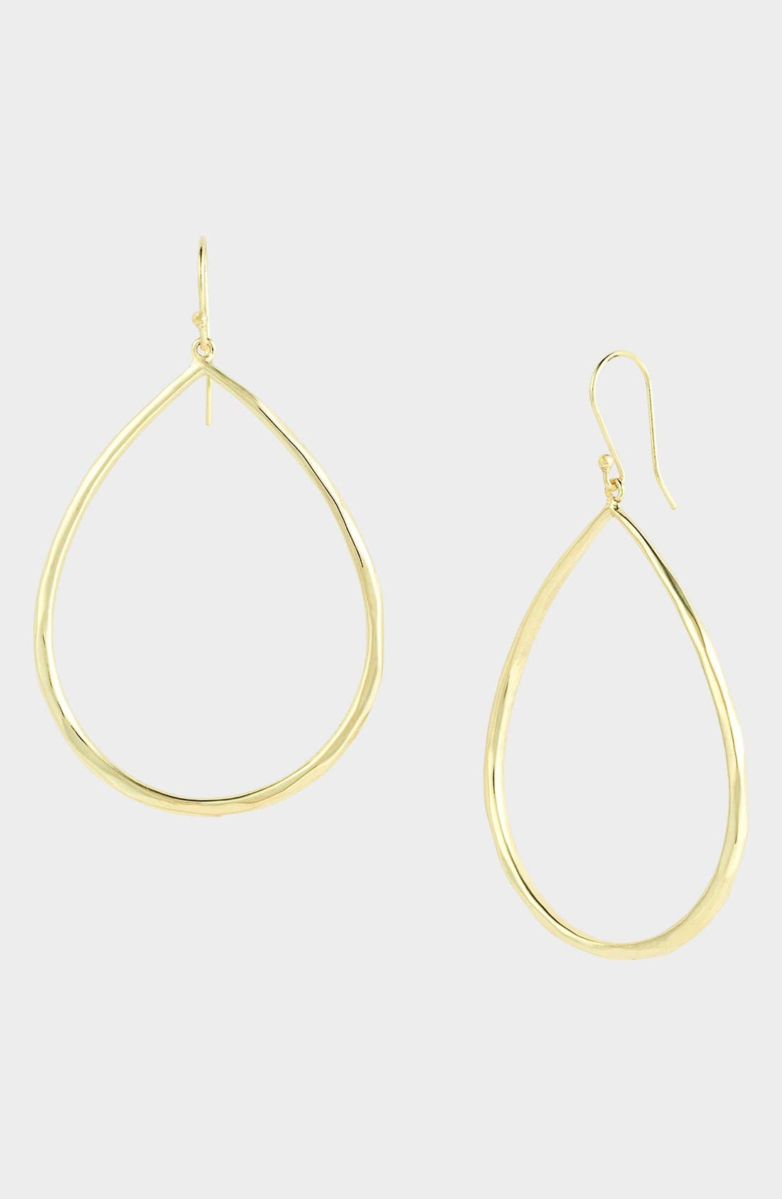 Glamazon Sculptural Metal 18K Yellow Gold Large Teardrop Earrings